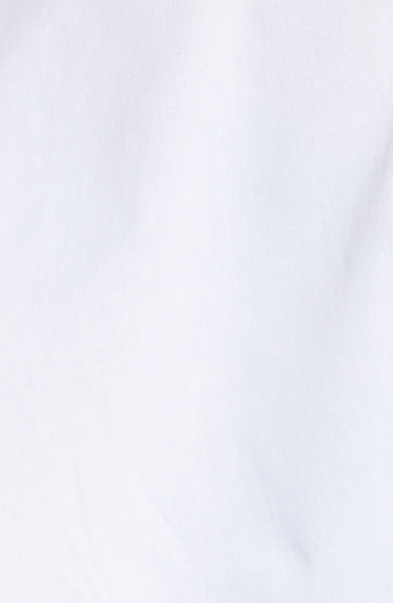 Ruffle Shoulder Peplum Top,                             Alternate thumbnail 5, color,                             White