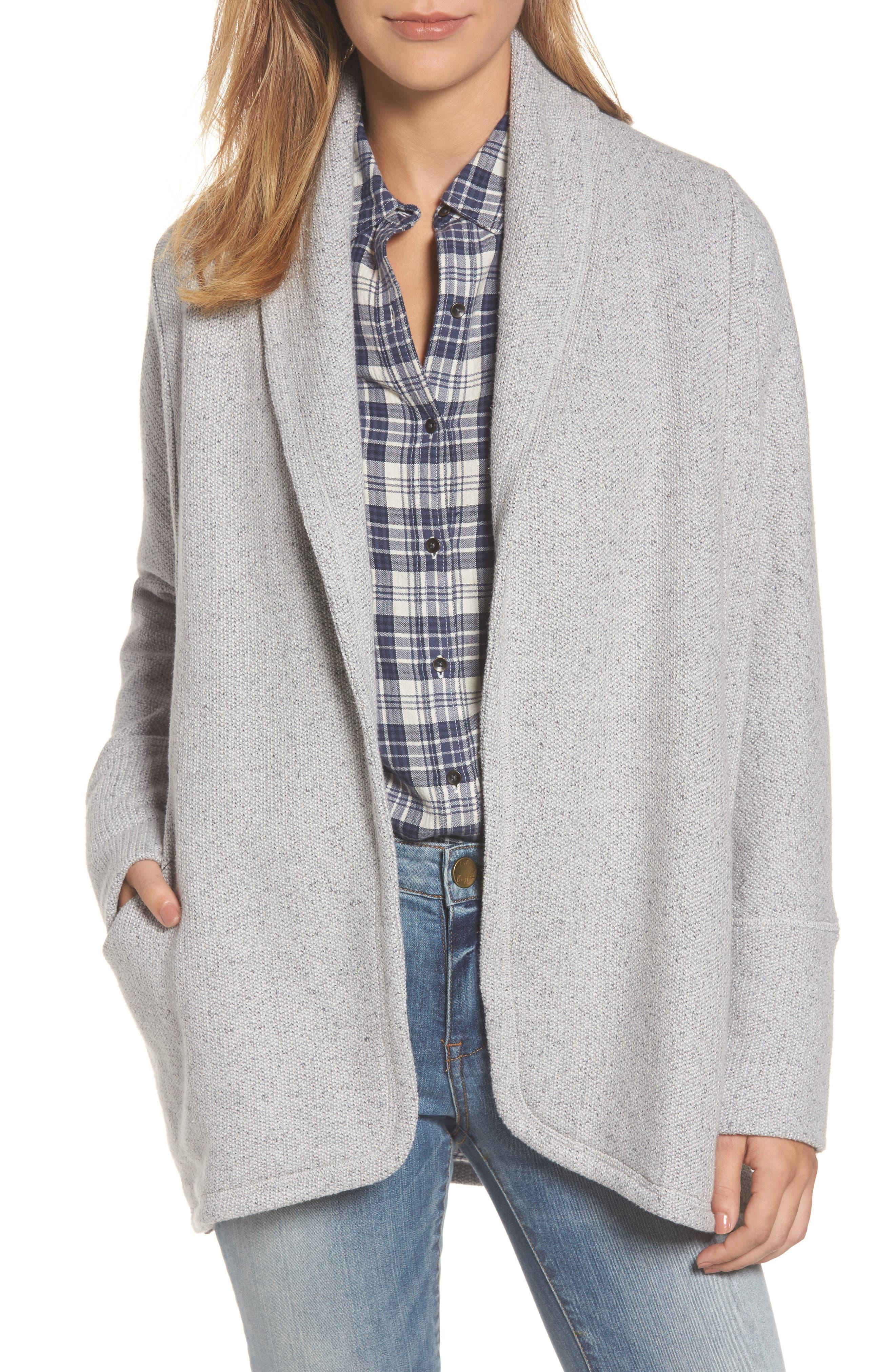 Caslon® Knit Cardigan Jacket (Regular & Petite)