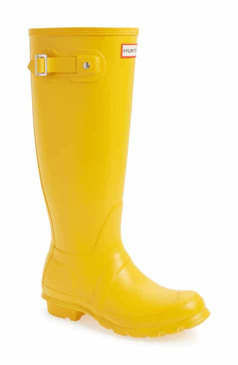 Hunter Original Tall Waterproof Rain Boot (Women) bd99ec10e5