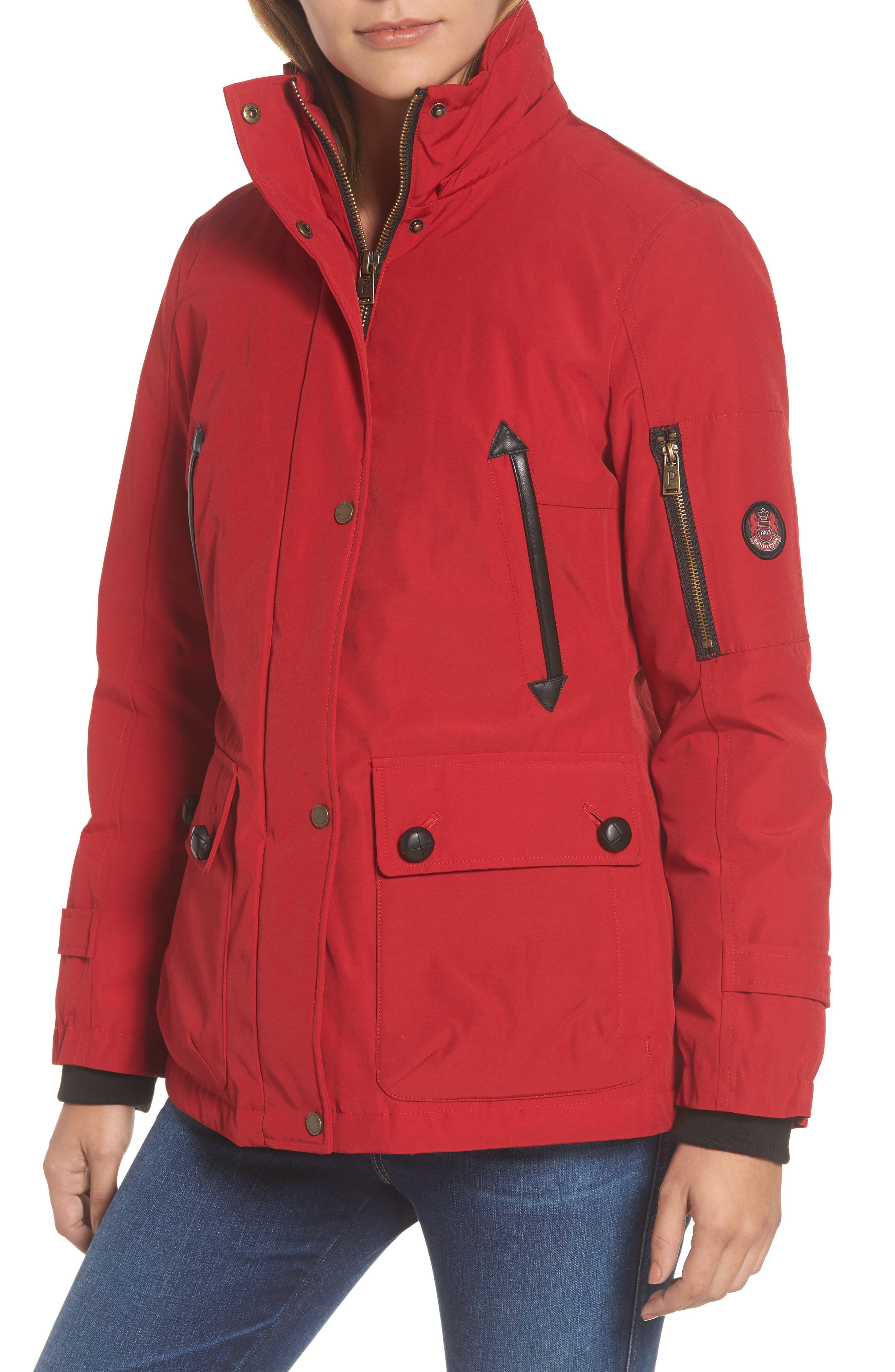 Alternate Image 4  - Pendleton Bachelor Water Repellent Hooded Down Parka with Genuine Coyote Fur Trim