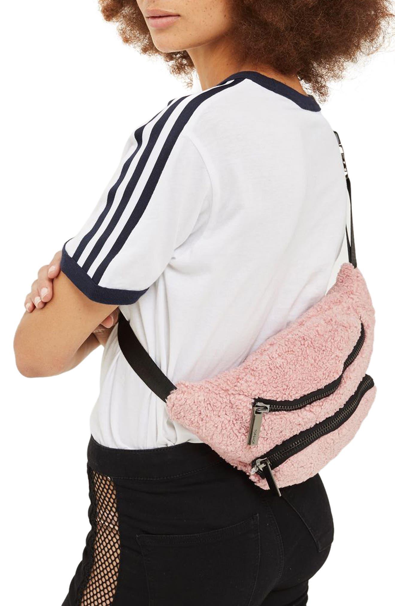 Alternate Image 2  - Topshop Benny Borg Belt Bag