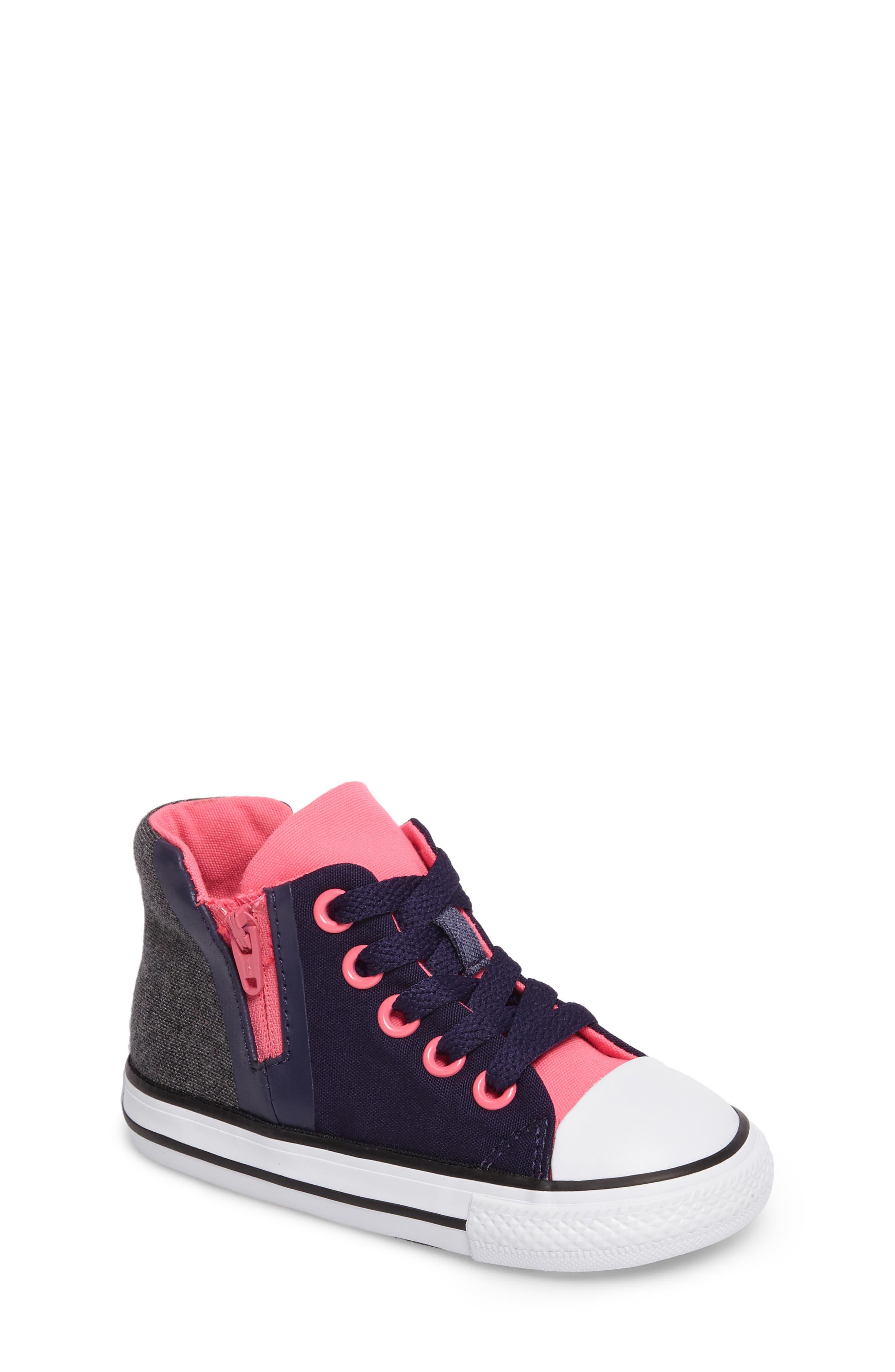 Main Image - Converse Chuck Taylor® All Star® Sport Zip High Top Sneaker (Baby, Walker, Toddler, Little Kid & Big Kid)