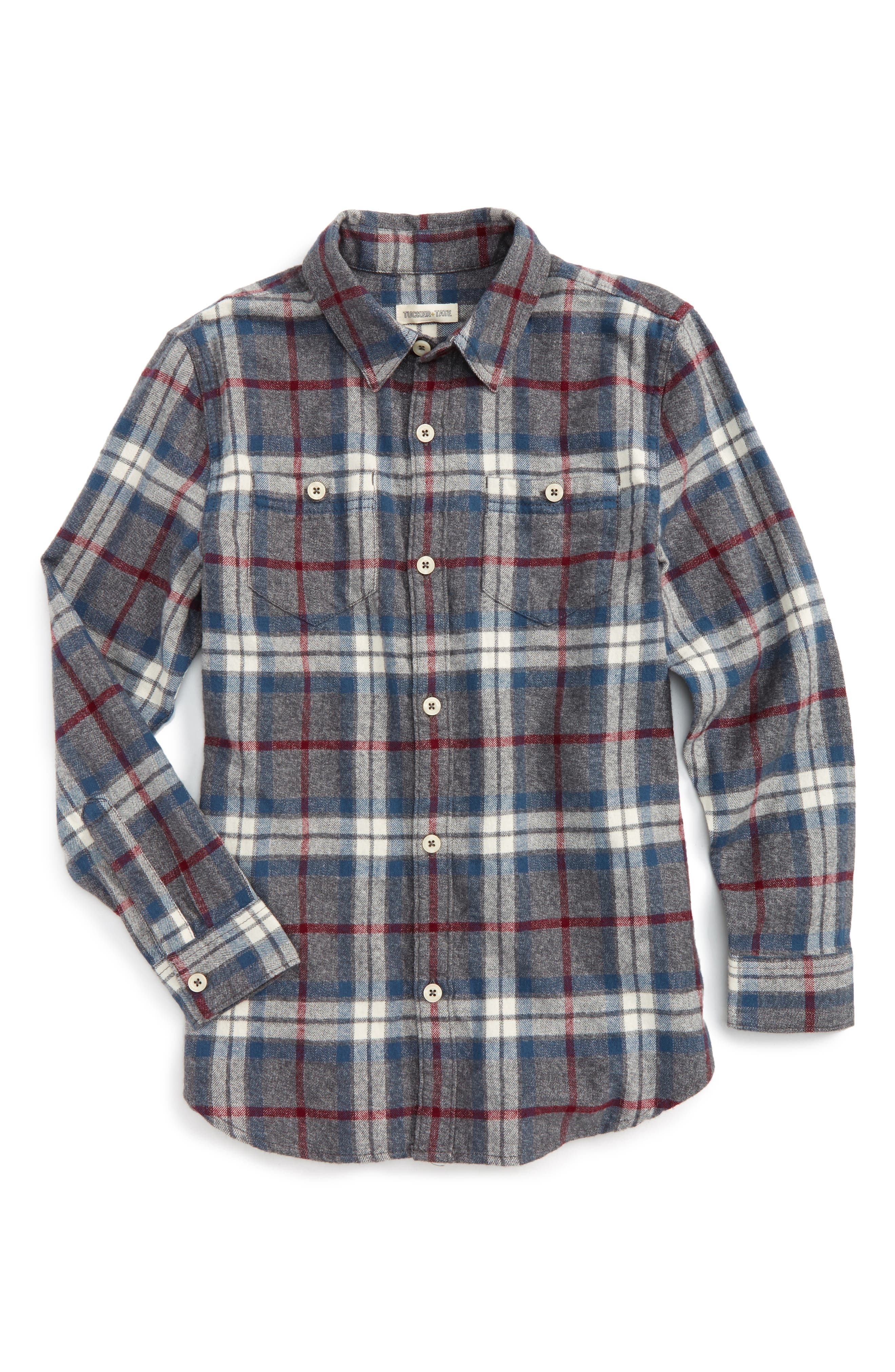 Tucker + Tate Plaid Flannel Shirt (Big Boys)