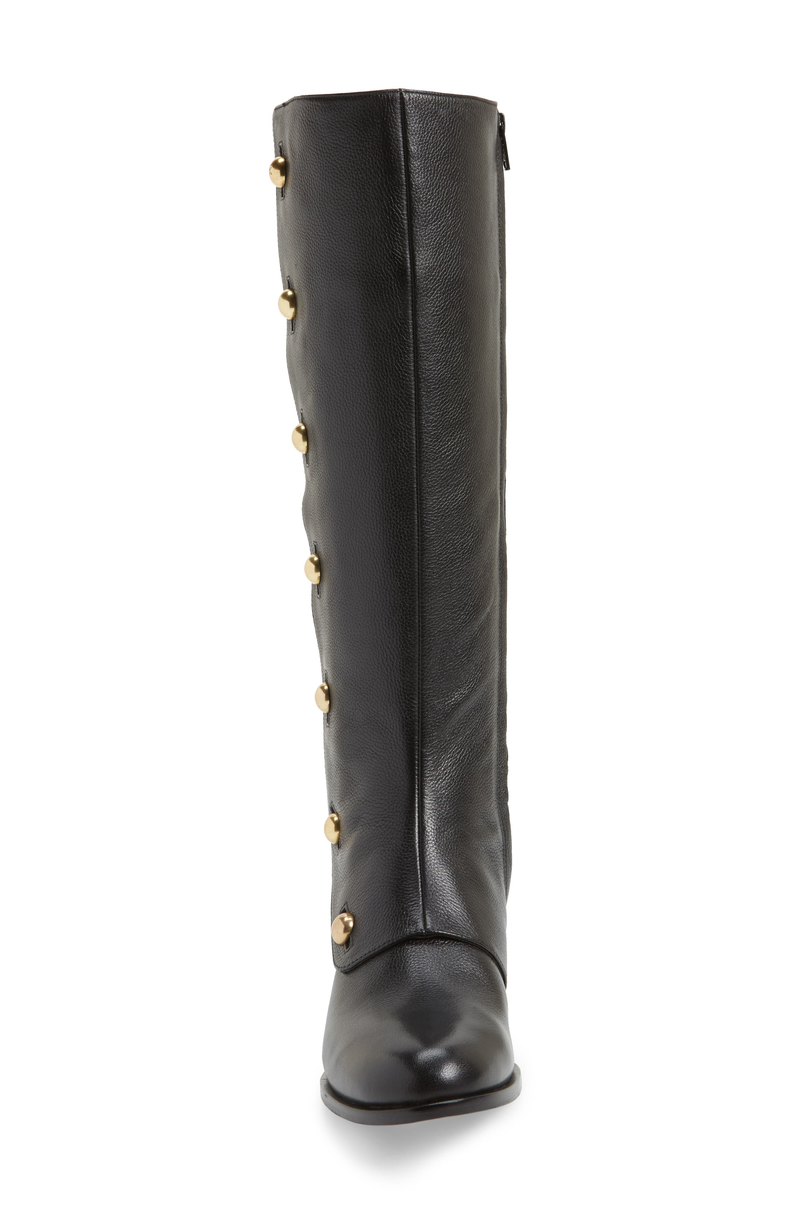 Maisie Boot,                             Alternate thumbnail 4, color,                             Black Tumbled Leather