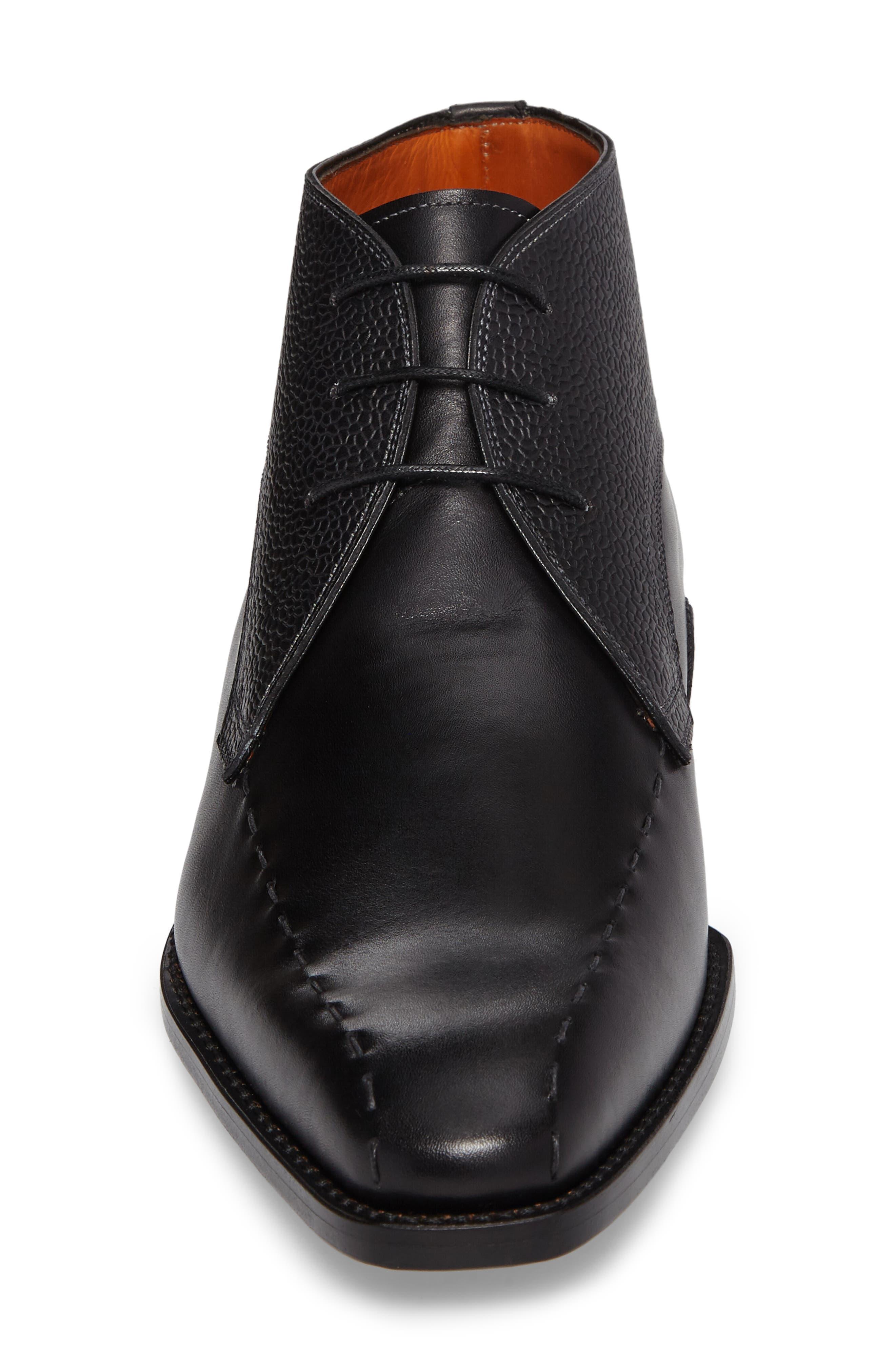 Moriles Chukka Boot,                             Alternate thumbnail 4, color,                             Black Leather