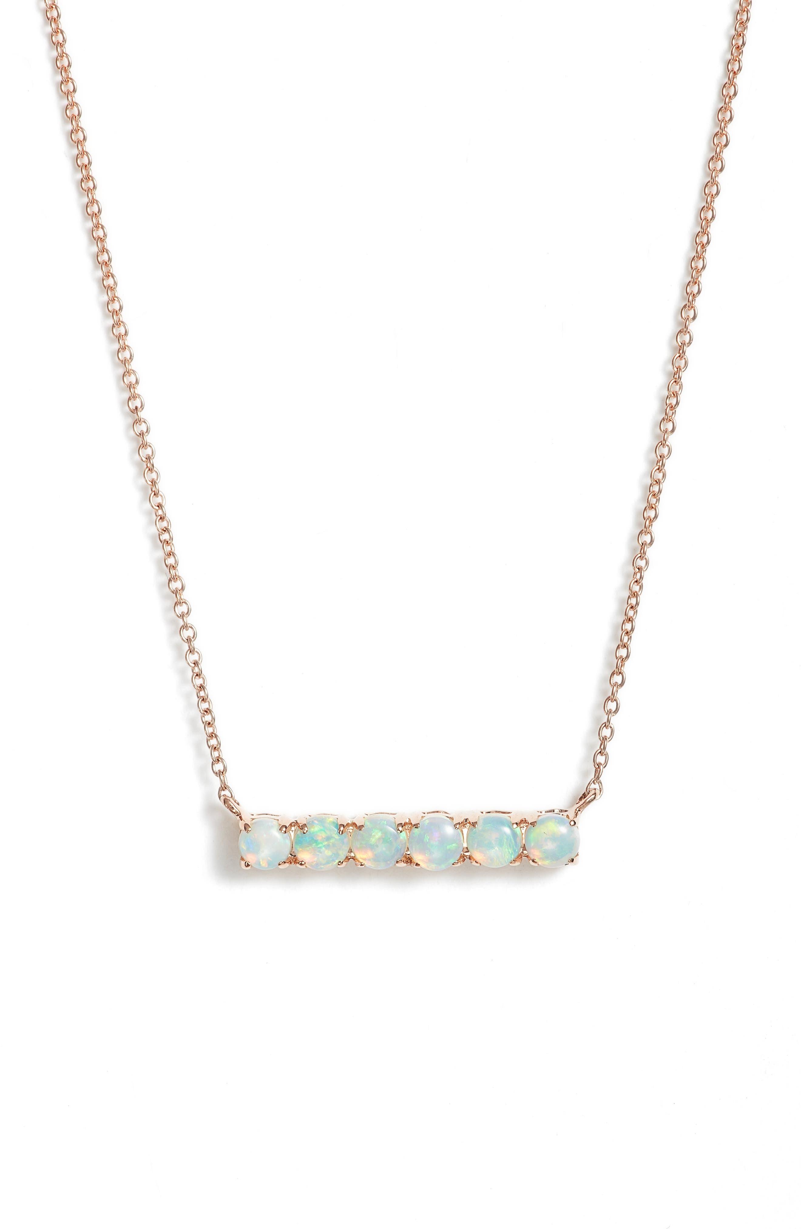 Alternate Image 1 Selected - Dana Rebecca Designs Bar Pendant Necklace