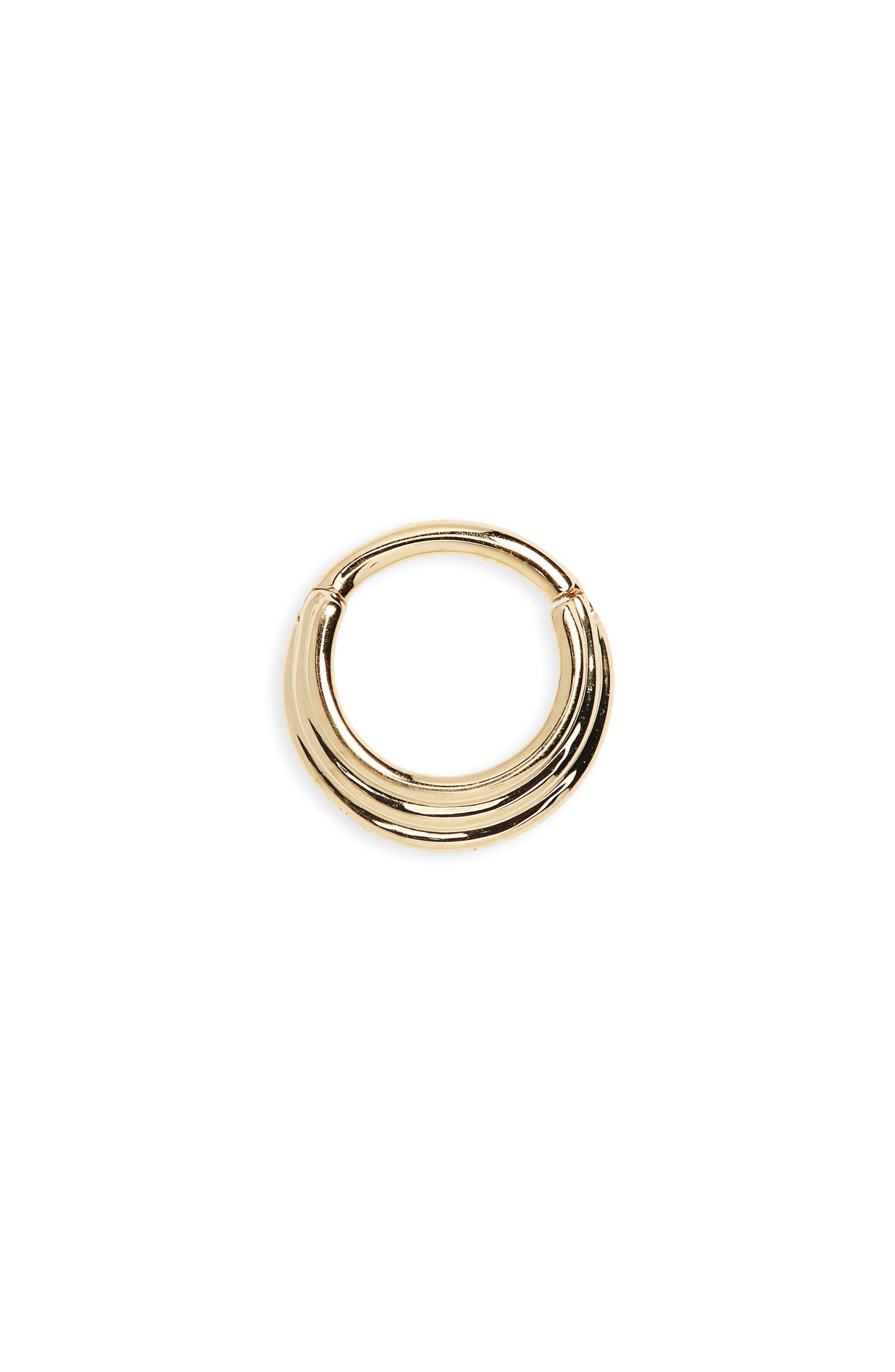 16 Gauge Hiranya Clicker Ring,                         Main,                         color, Yellow Gold