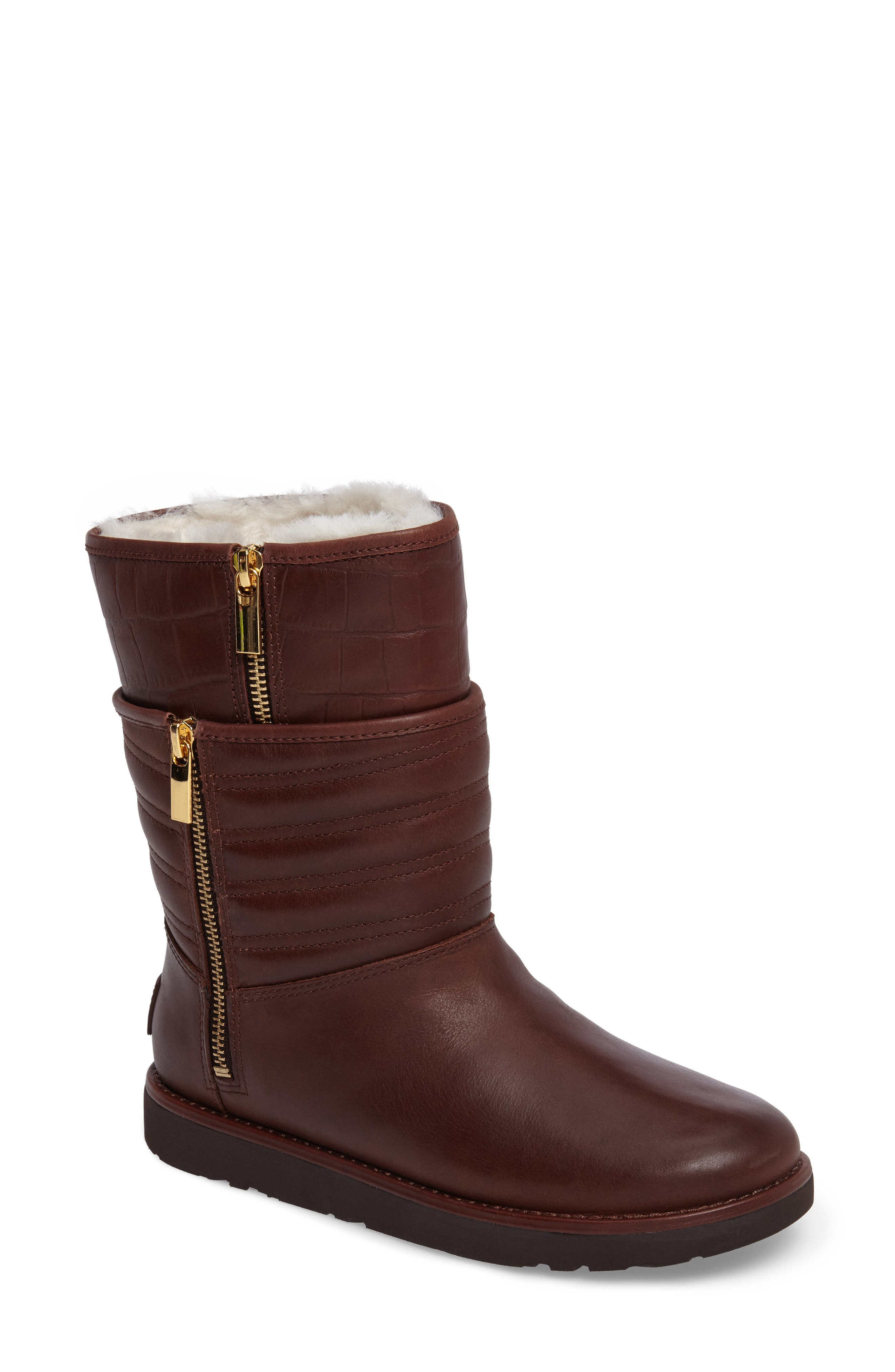 Alternate Image 1 Selected - UGG® Aviva Genuine Shearling Lined Boot (Women)