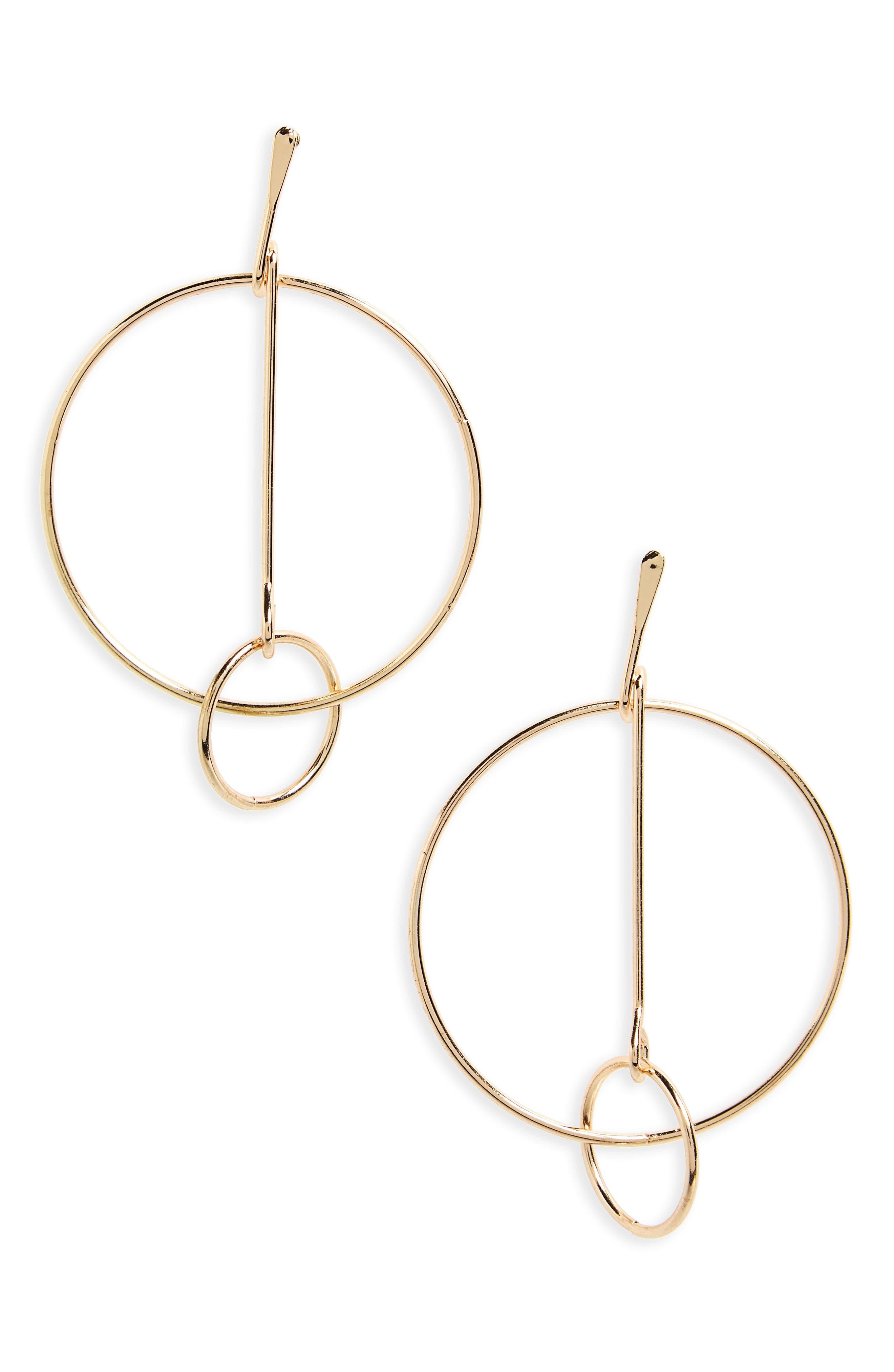 BP. Intertwined Hoop Earrings