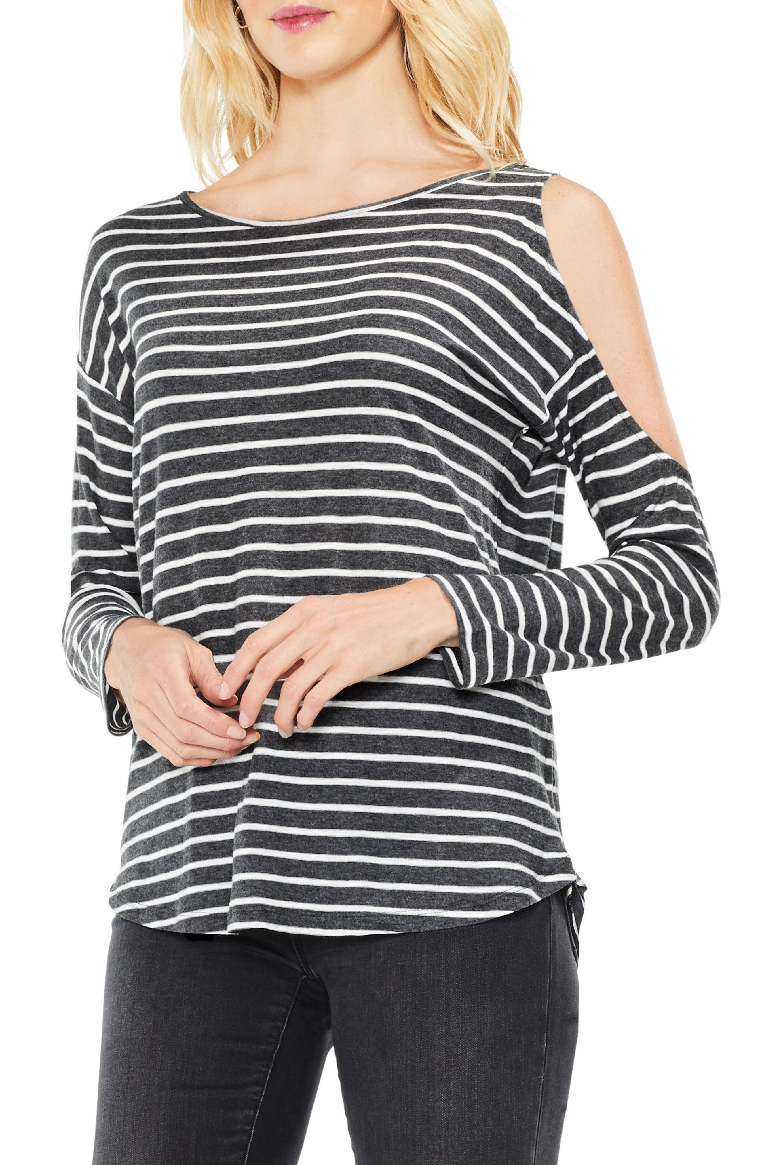Two by Vince Camuto Rapid Stripe Top