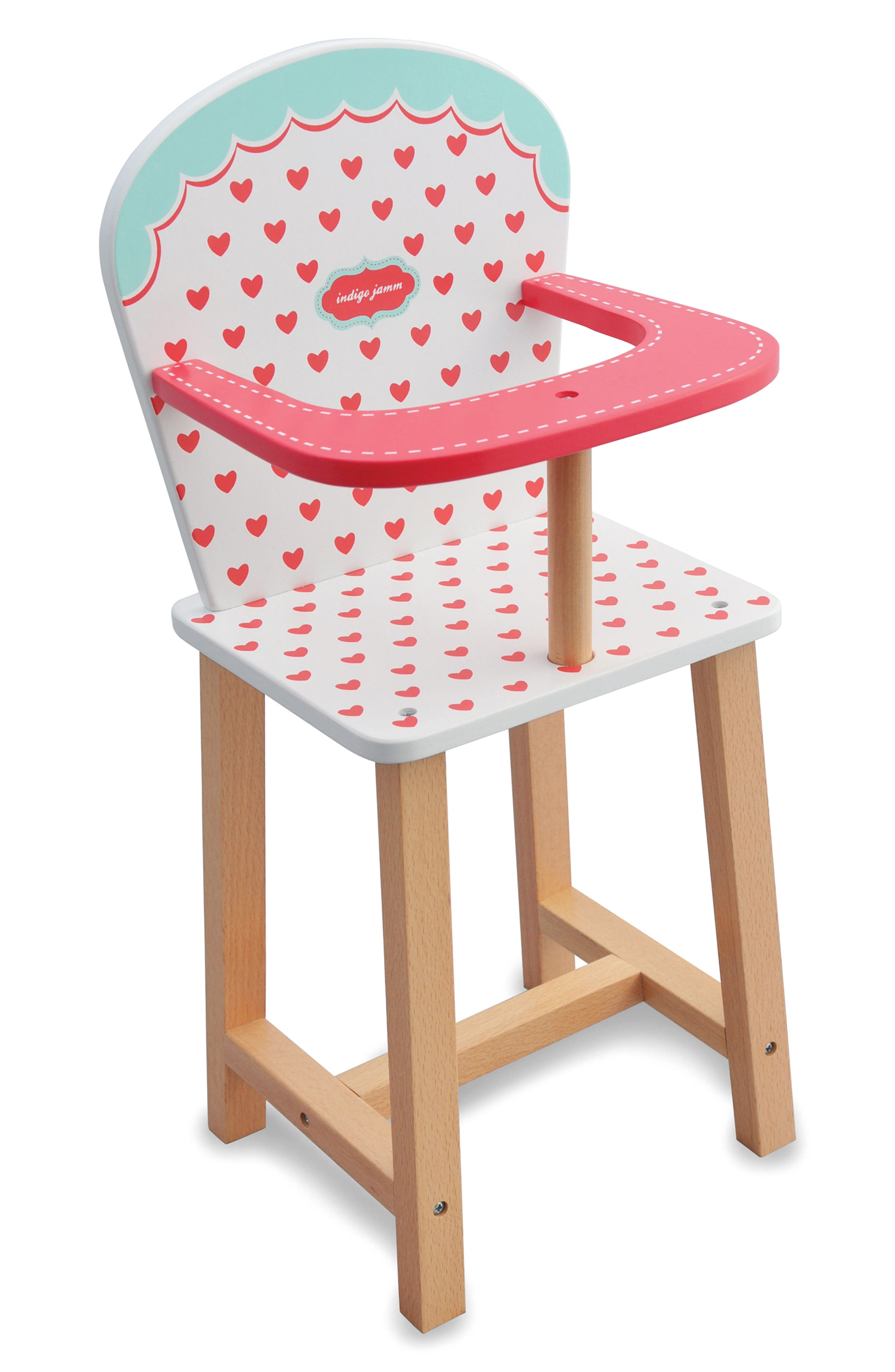 Hearts Highchair,                         Main,                         color, Red