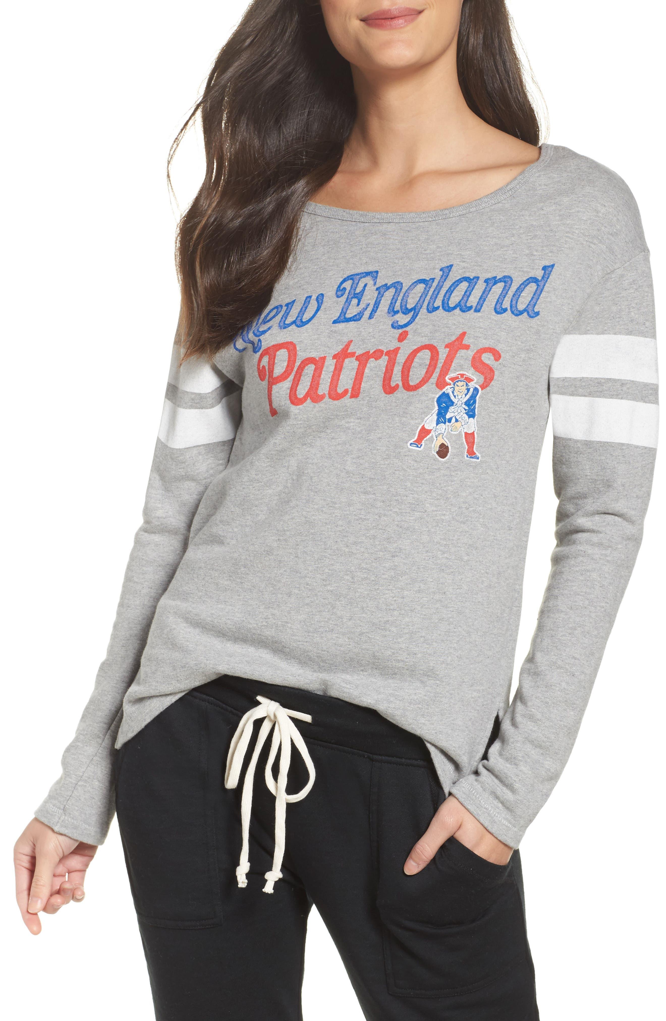 NFL New England Patriots Champion Sweatshirt,                             Main thumbnail 1, color,                             Heather Grey