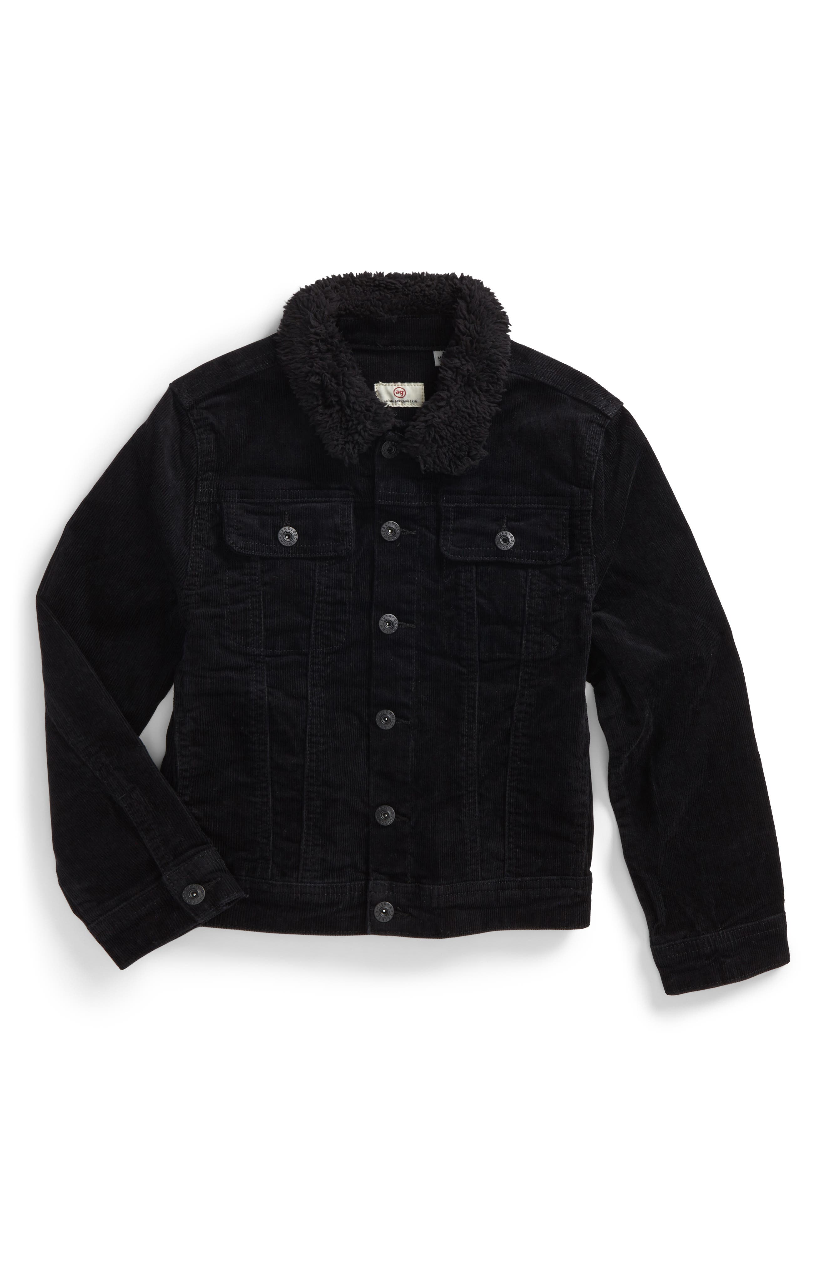 ag adriano goldschmied kids Brody Plush Collar Corduroy Jacket Collar (Little Boys)