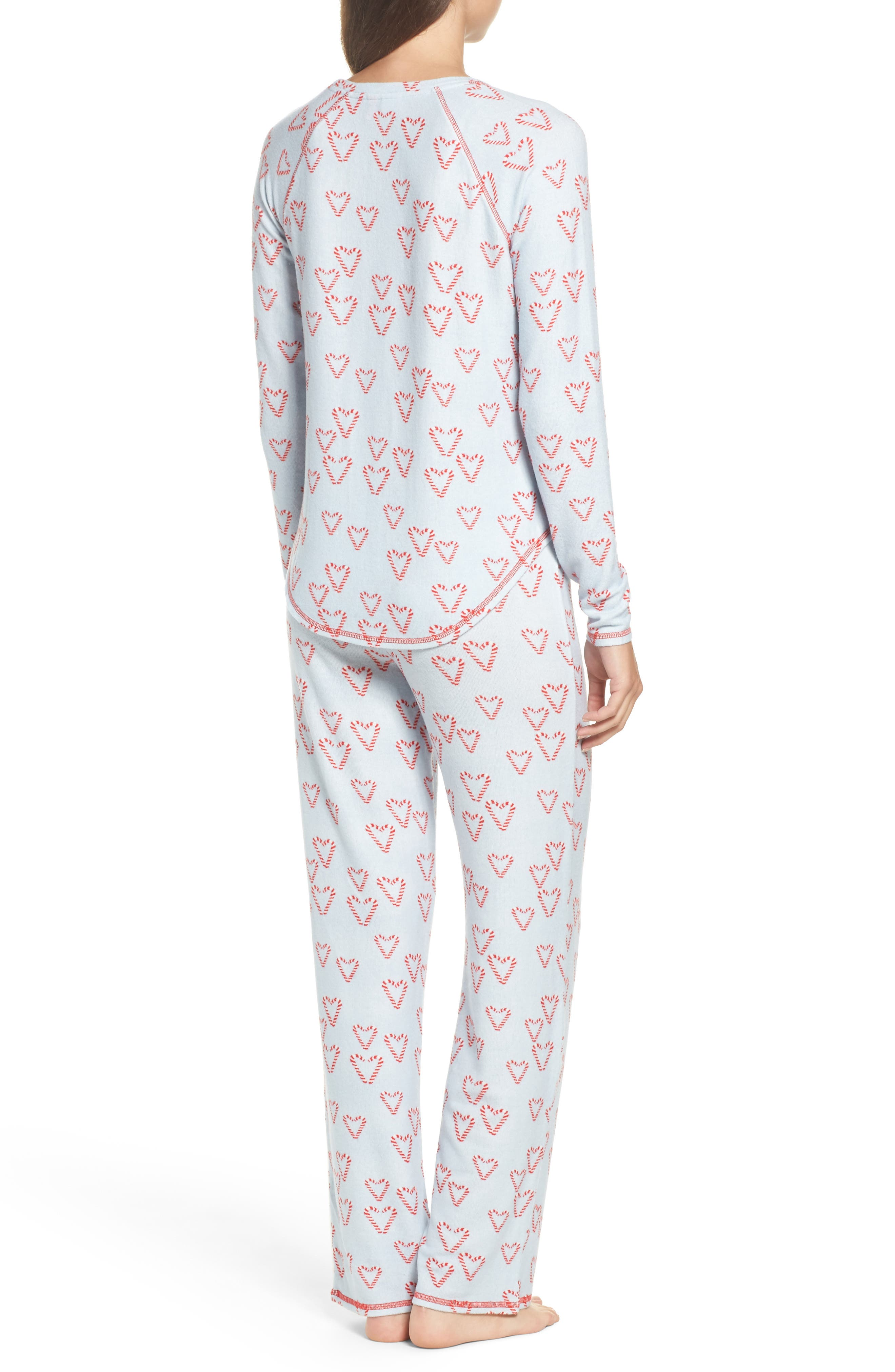 Alternate Image 2  - Make + Model Knit Girlfriend Pajamas & Eye Mask