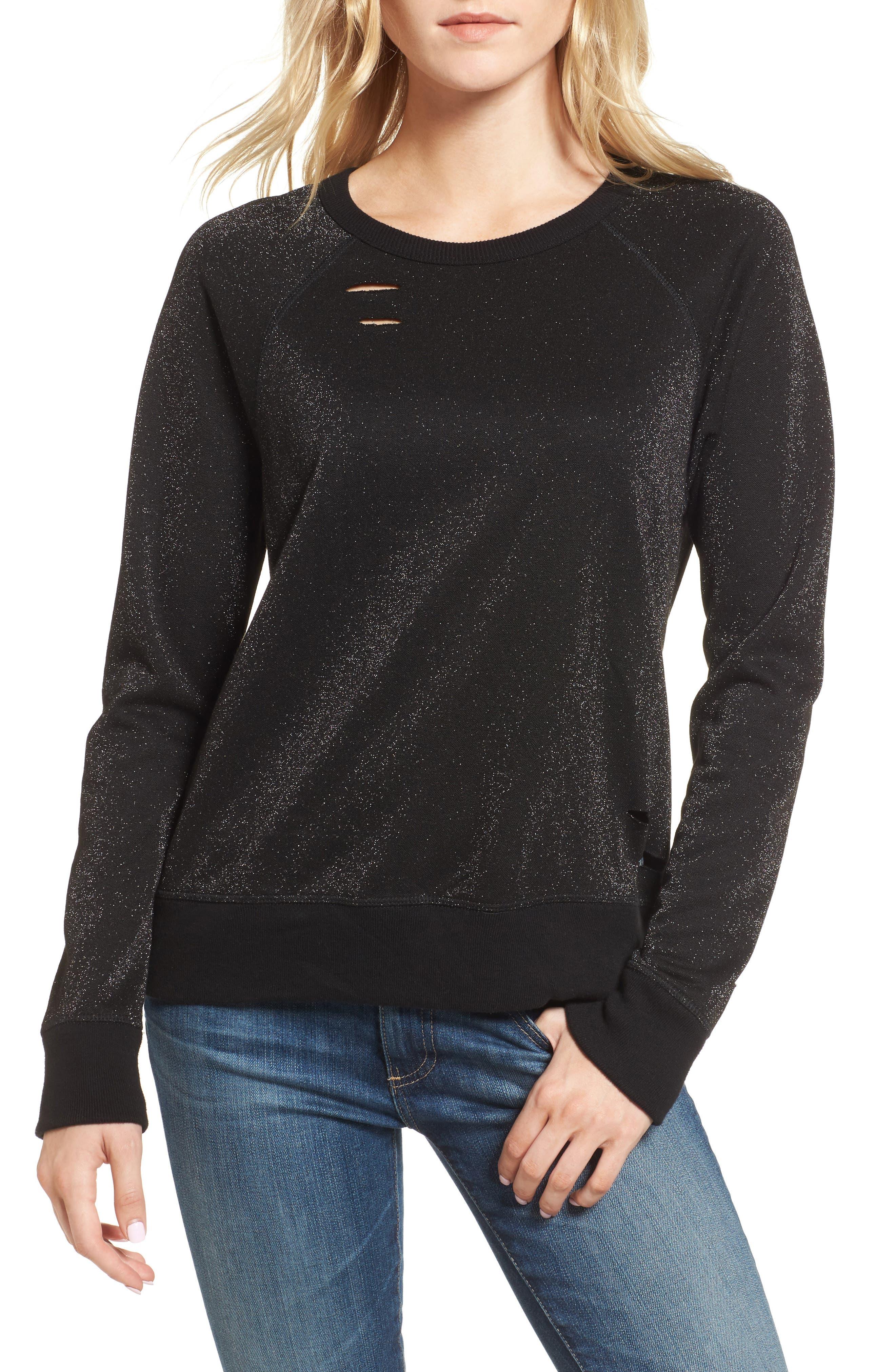 Fuller Sweatshirt,                         Main,                         color, Metallic Black Cat