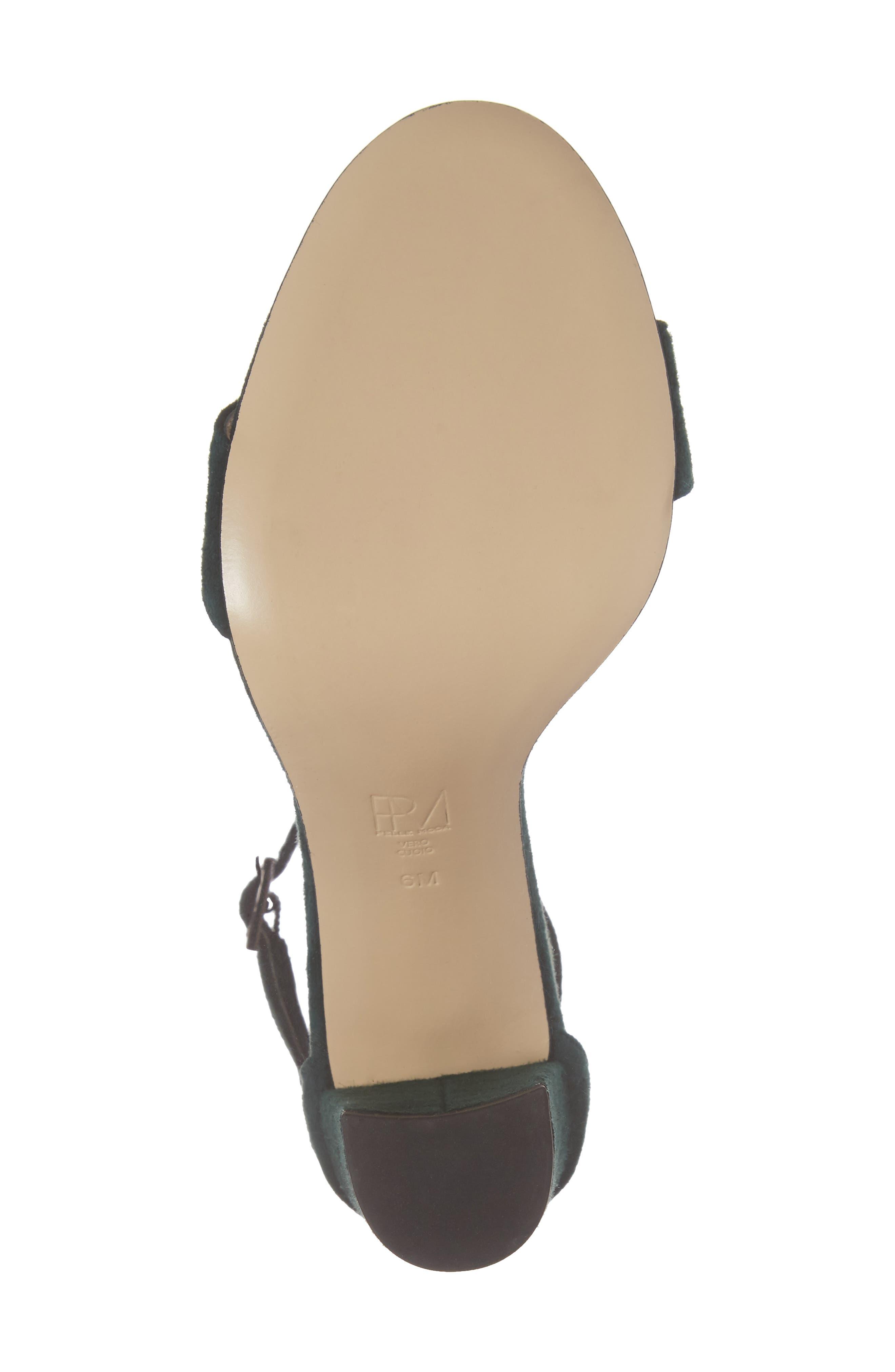 Bonnie Ankle Strap Sandal,                             Alternate thumbnail 6, color,                             Forest Leather