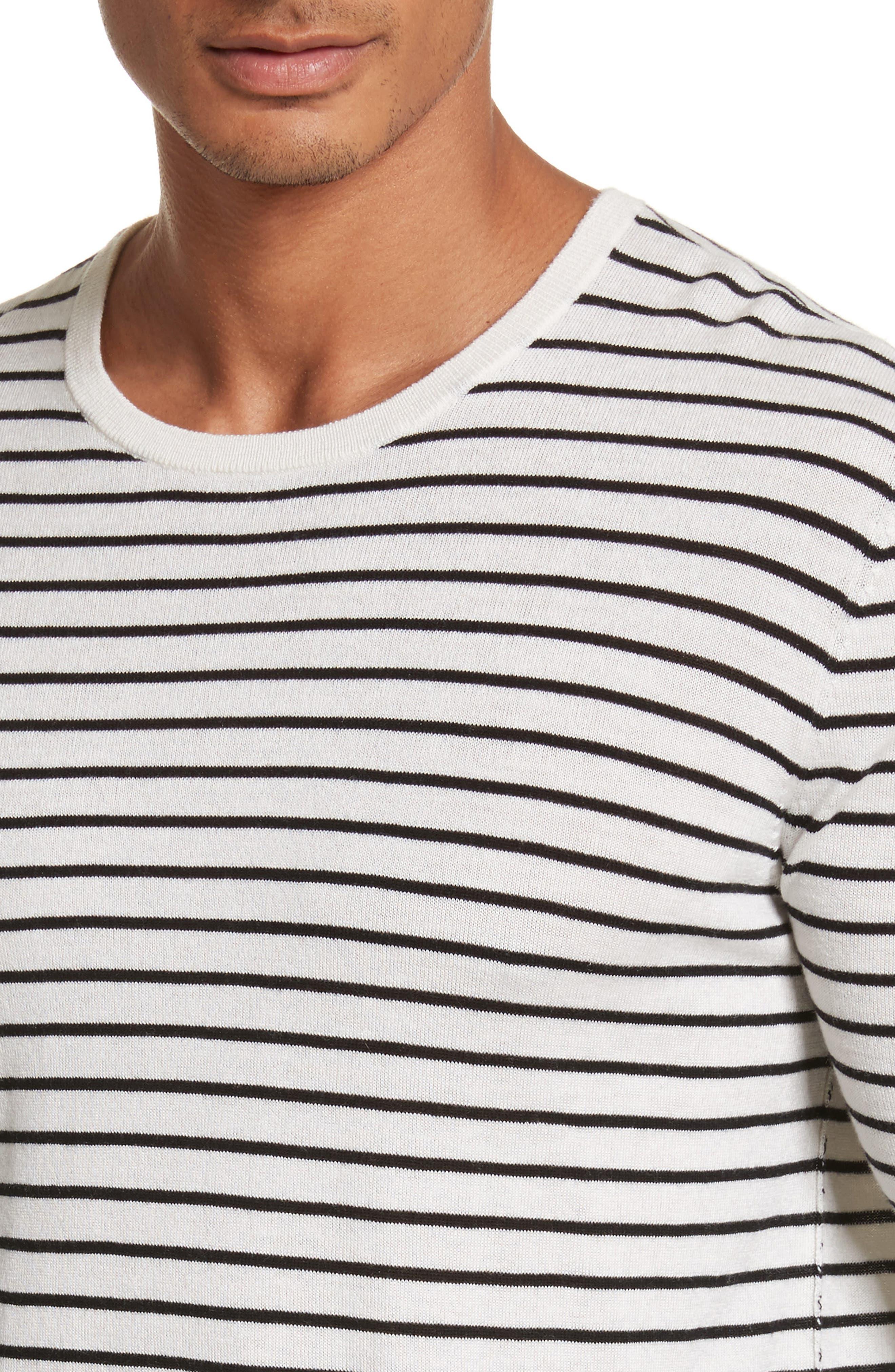 Alternate Image 4  - ATM Anthony Thomas Melillo Stripe Silk Blend Sweater