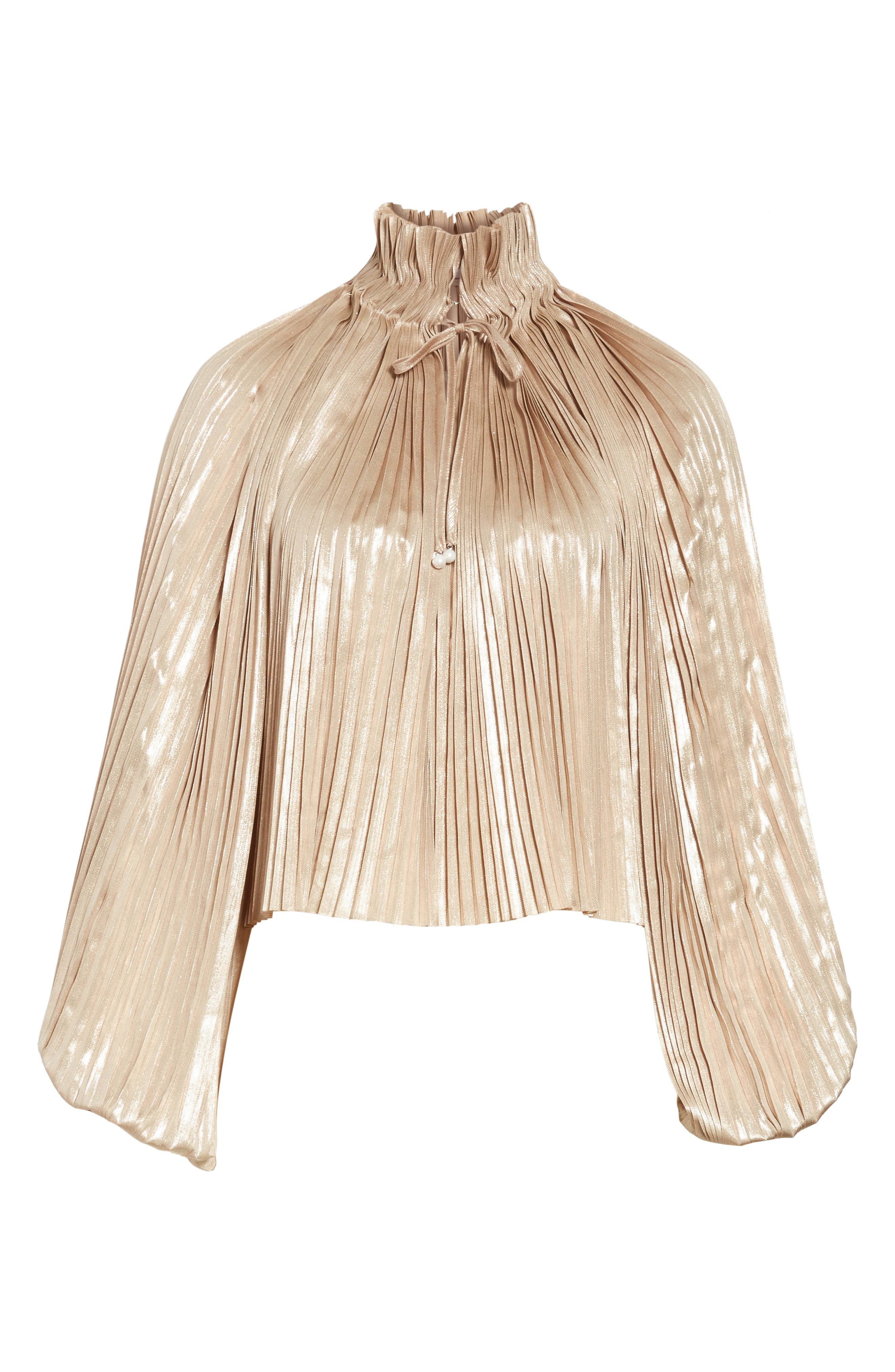 Alternate Image 6  - Opening Ceremony Foil Pleated Top