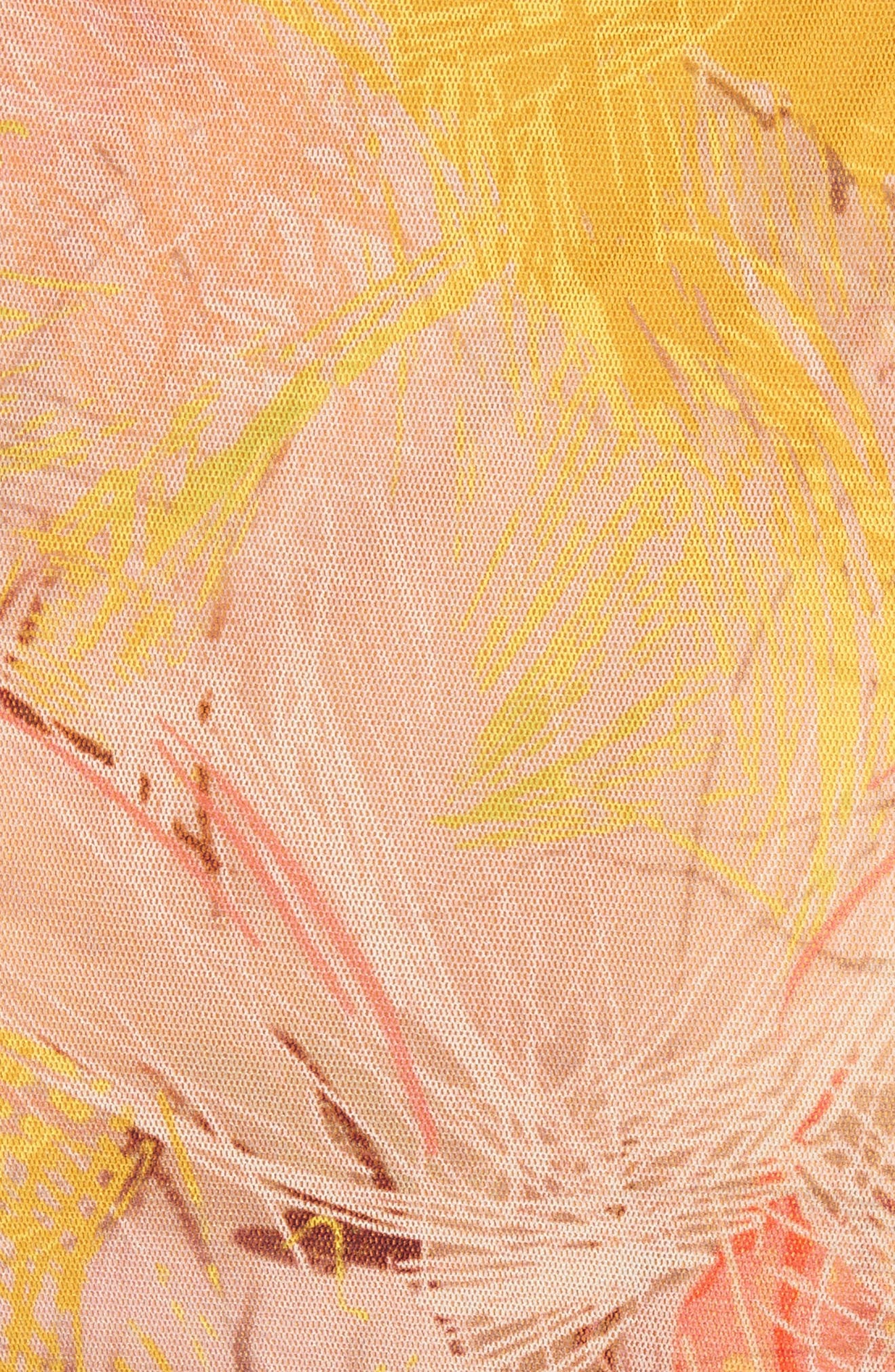 Alternate Image 5  - Fuzzi Print Tulle Ruffle Wrap Dress