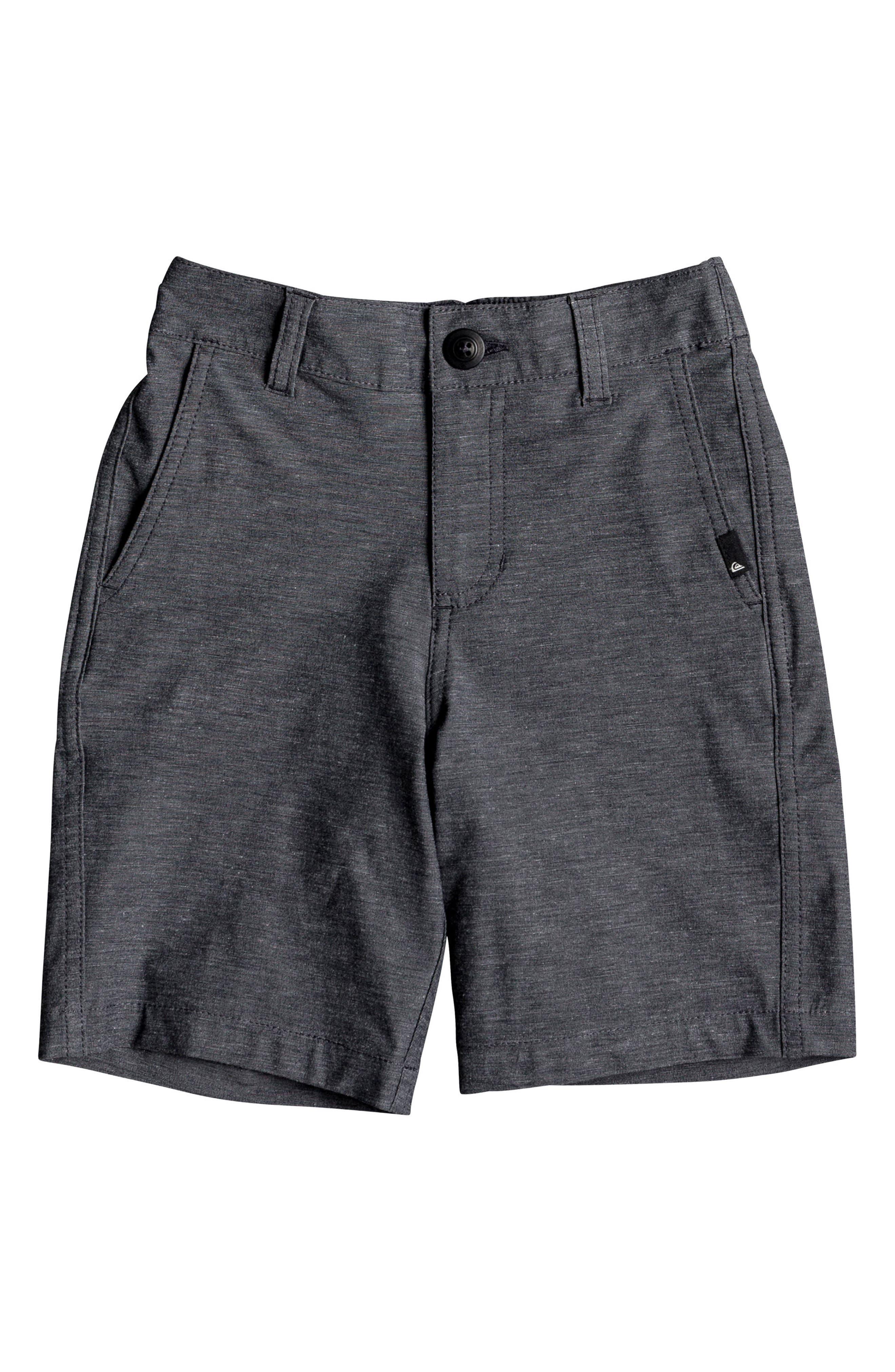 Union Heather Amphibian Board Shorts,                             Main thumbnail 1, color,                             Black