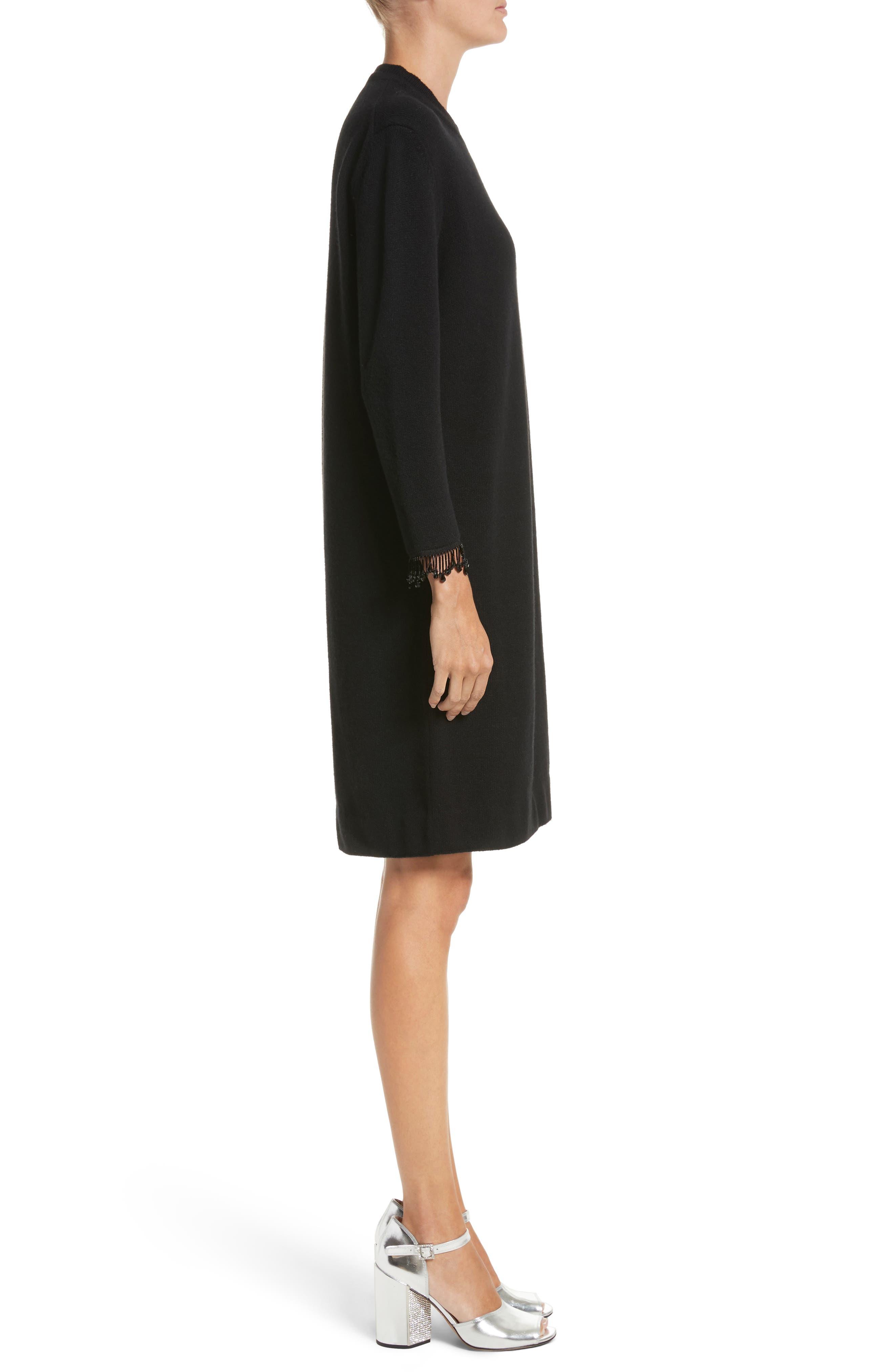 Alternate Image 3  - MARC JACOBS Beaded Fringe Wool & Cashmere Dress