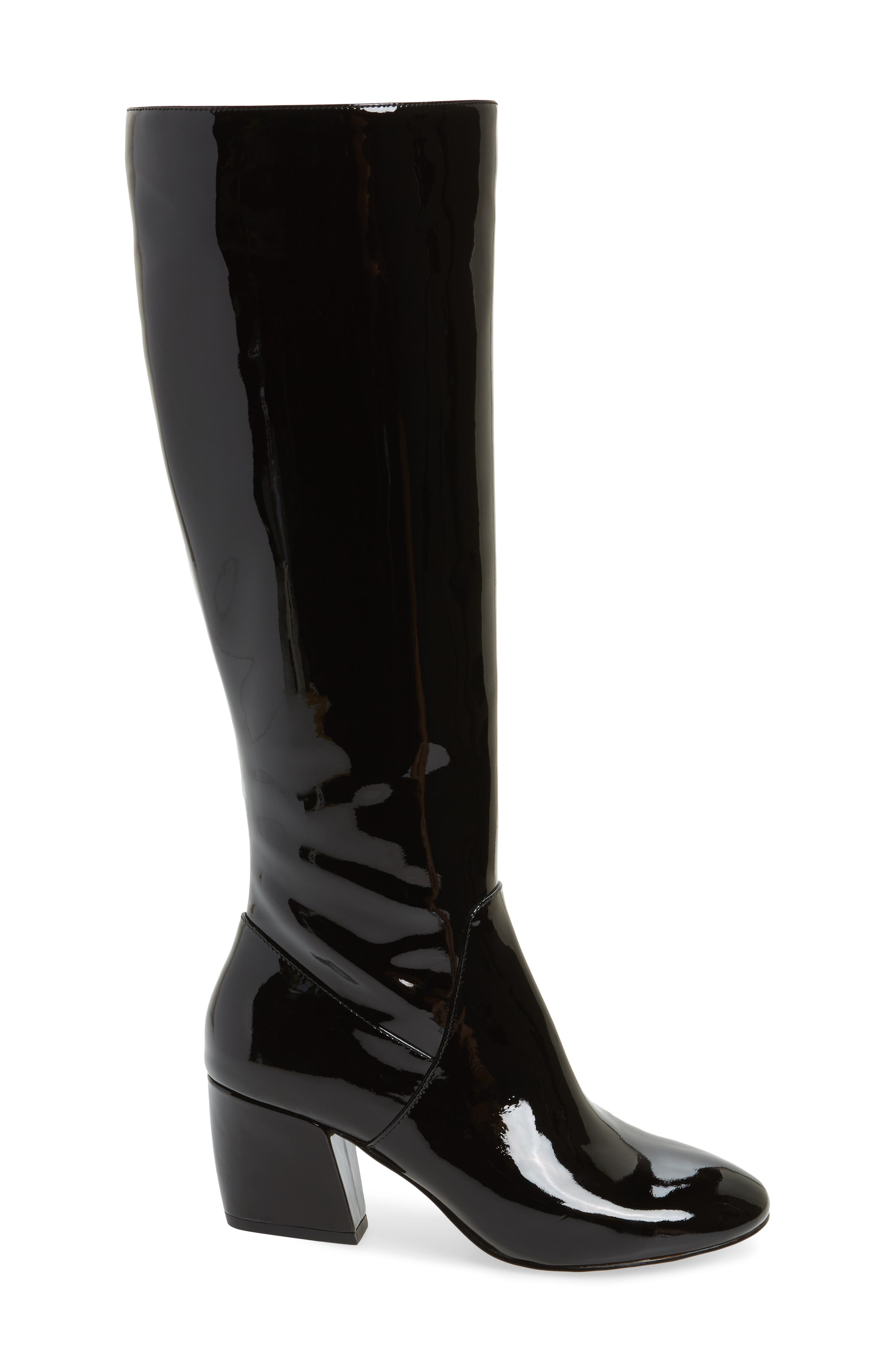 Adelle Knee High Boot,                             Alternate thumbnail 2, color,                             Black Patent Leather