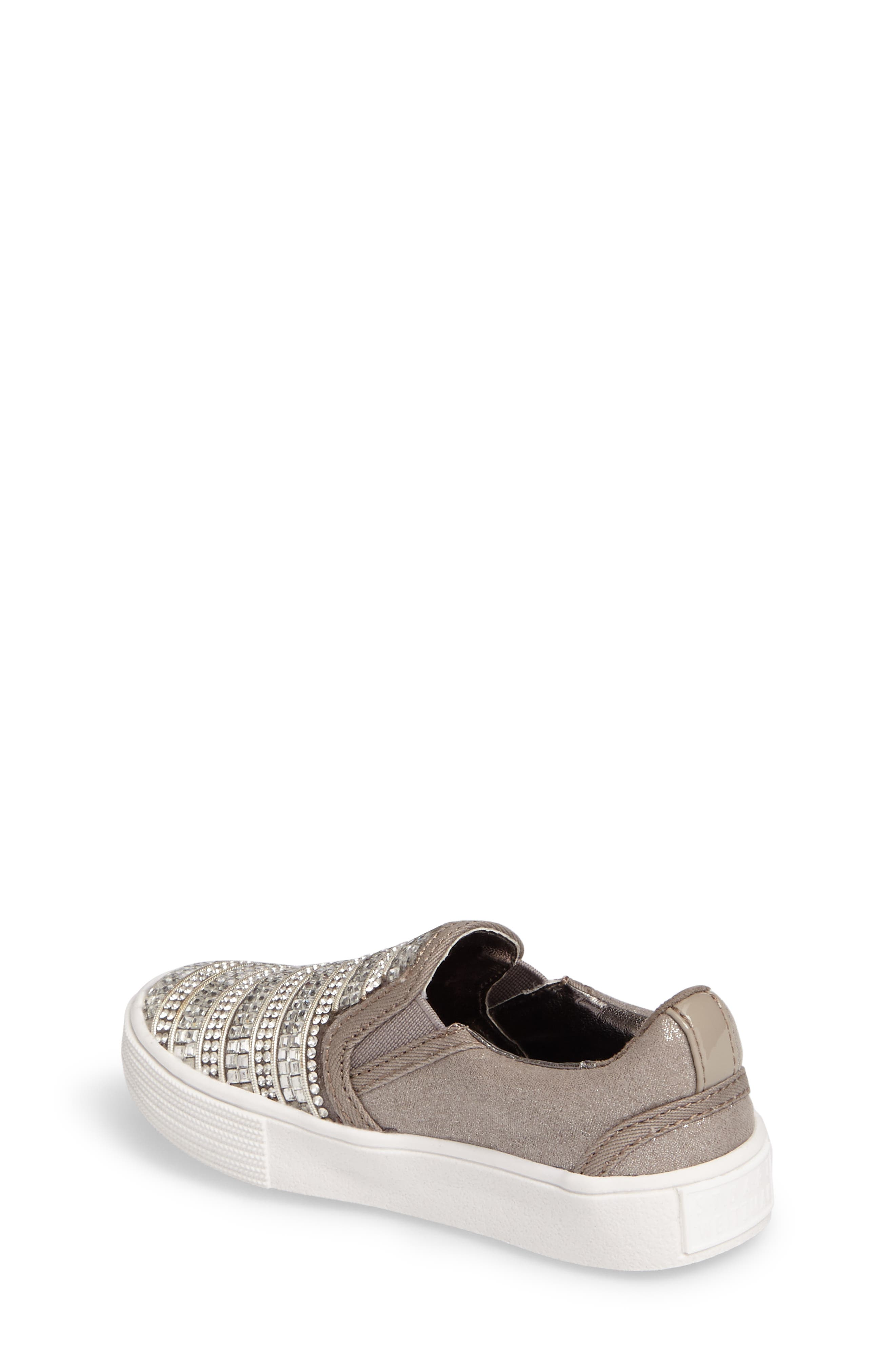 Alternate Image 2  - Stuart Weitzman Vance Glitz Embellished Slip-On Sneaker (Walker & Toddler)