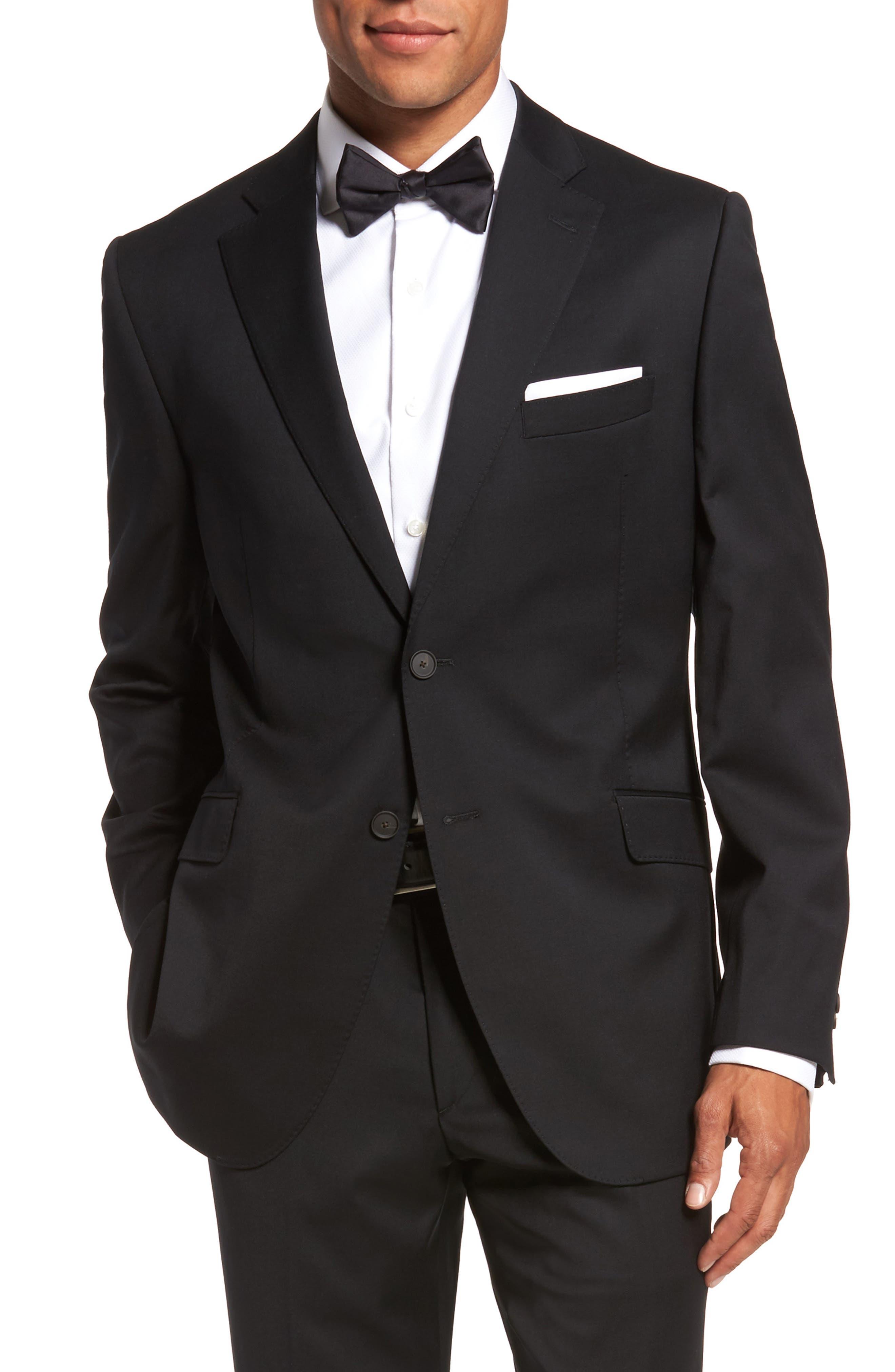 Keidis Aim Classic Fit Stretch Wool Suit,                             Alternate thumbnail 5, color,                             Black