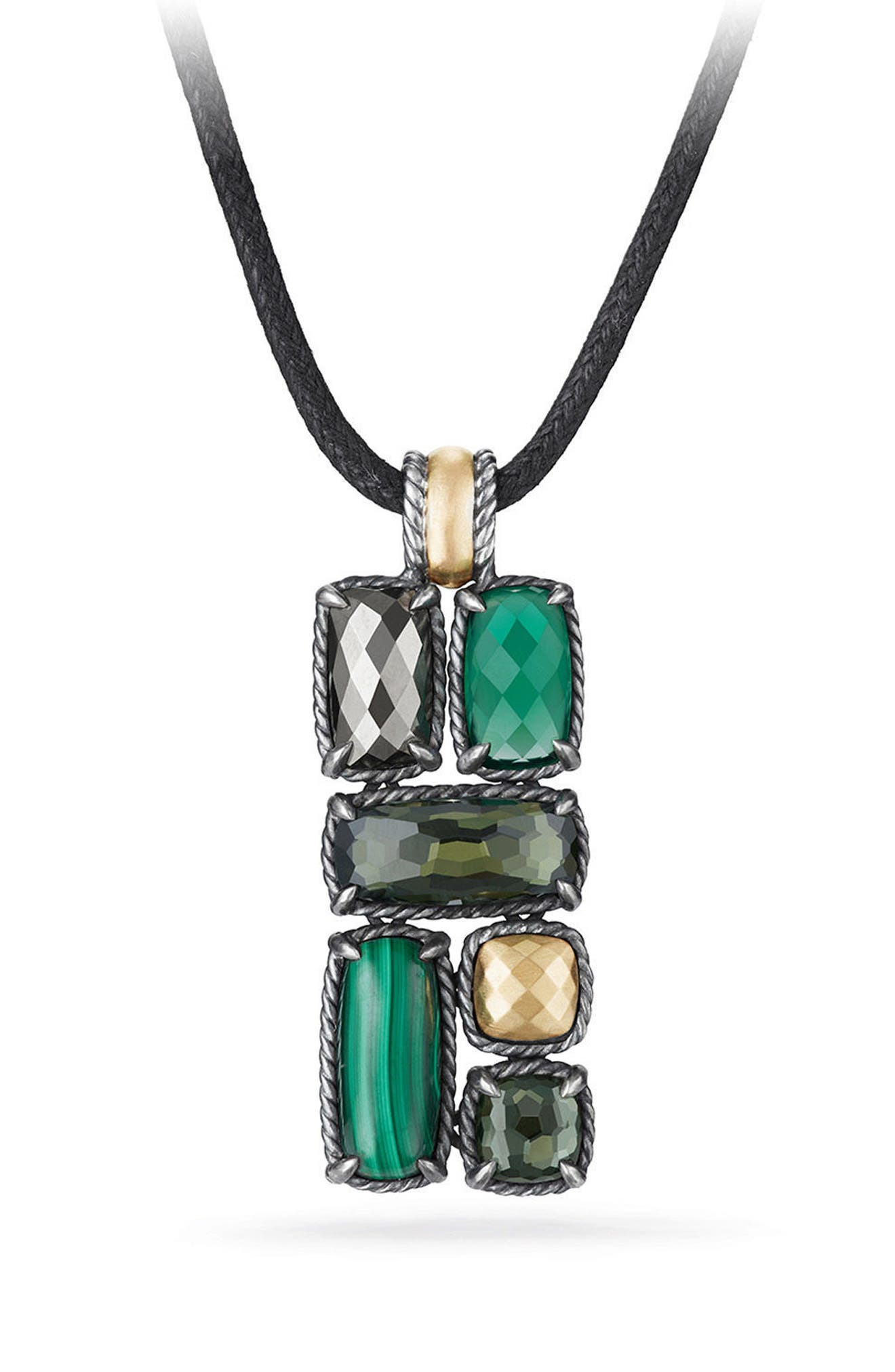 David Yurman Châtelaine Mosaic Necklace with 18K Gold
