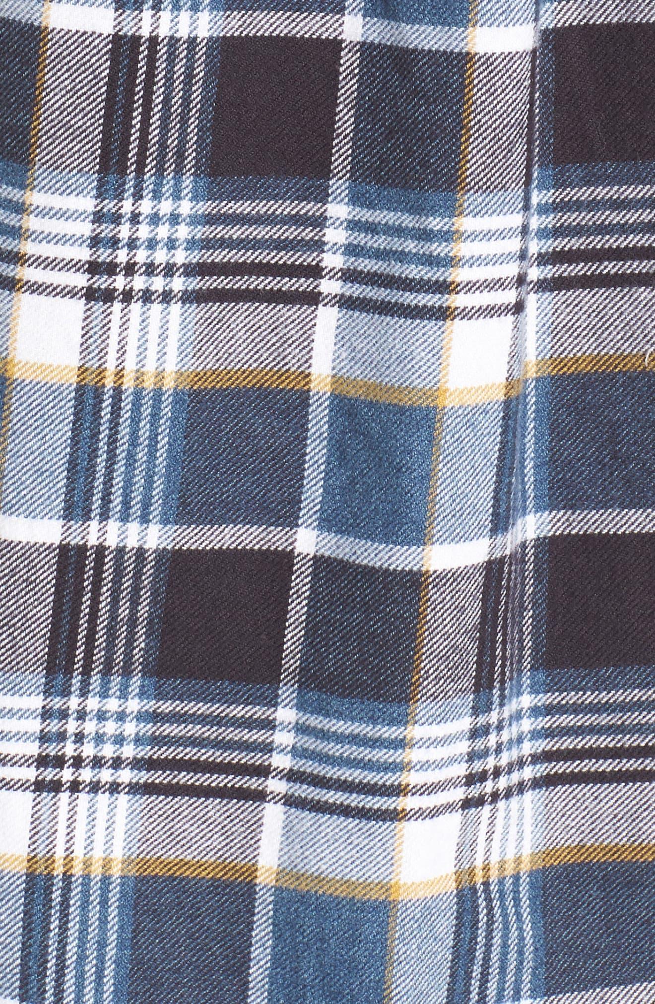 Redmond Regular Fit Plaid Flannel Shirt,                             Alternate thumbnail 5, color,                             Ocean