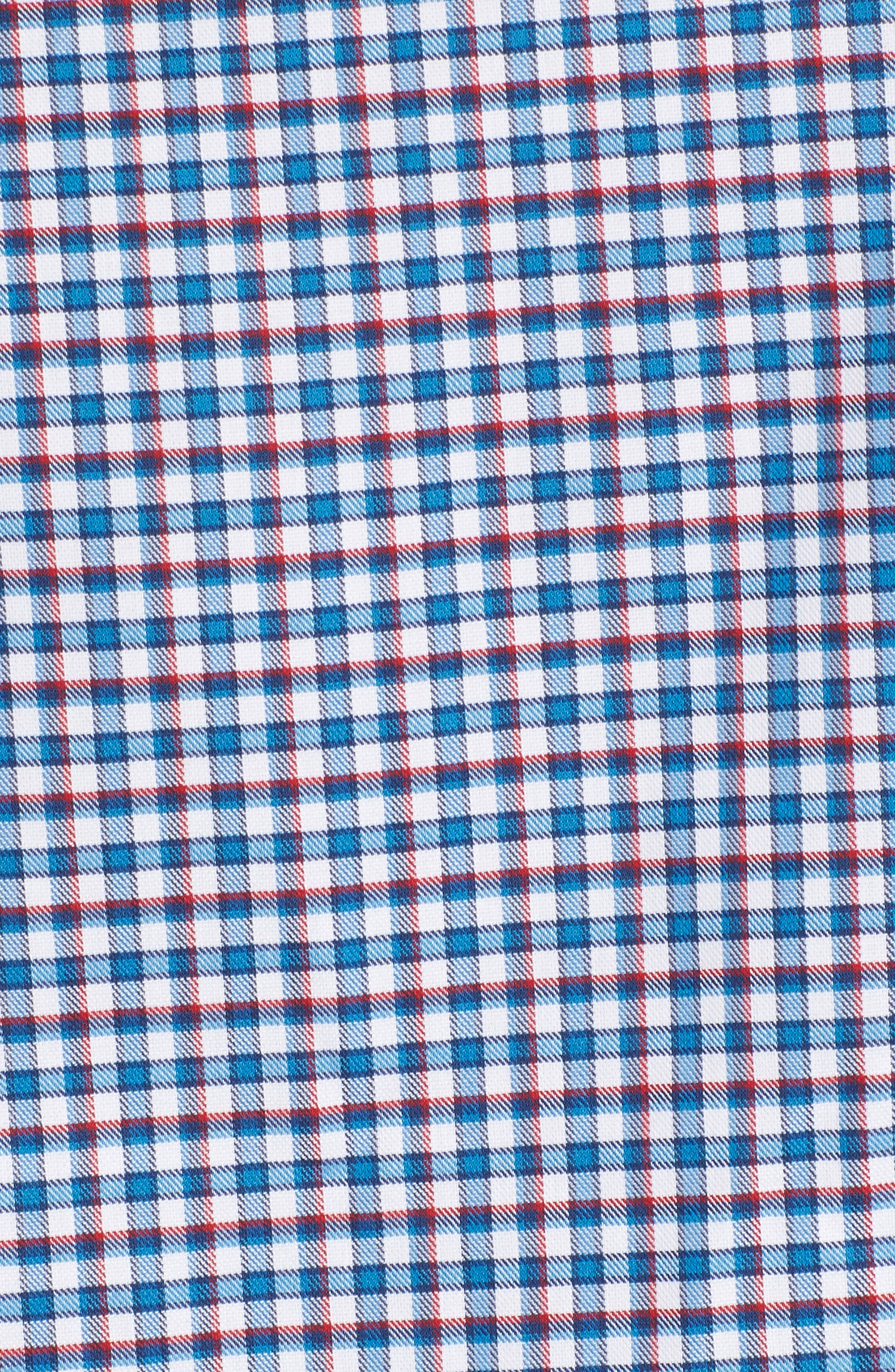 Slim Fit Tech-Smart Mini Check Sport Shirt,                             Alternate thumbnail 5, color,                             Blue Estate White Mini Check