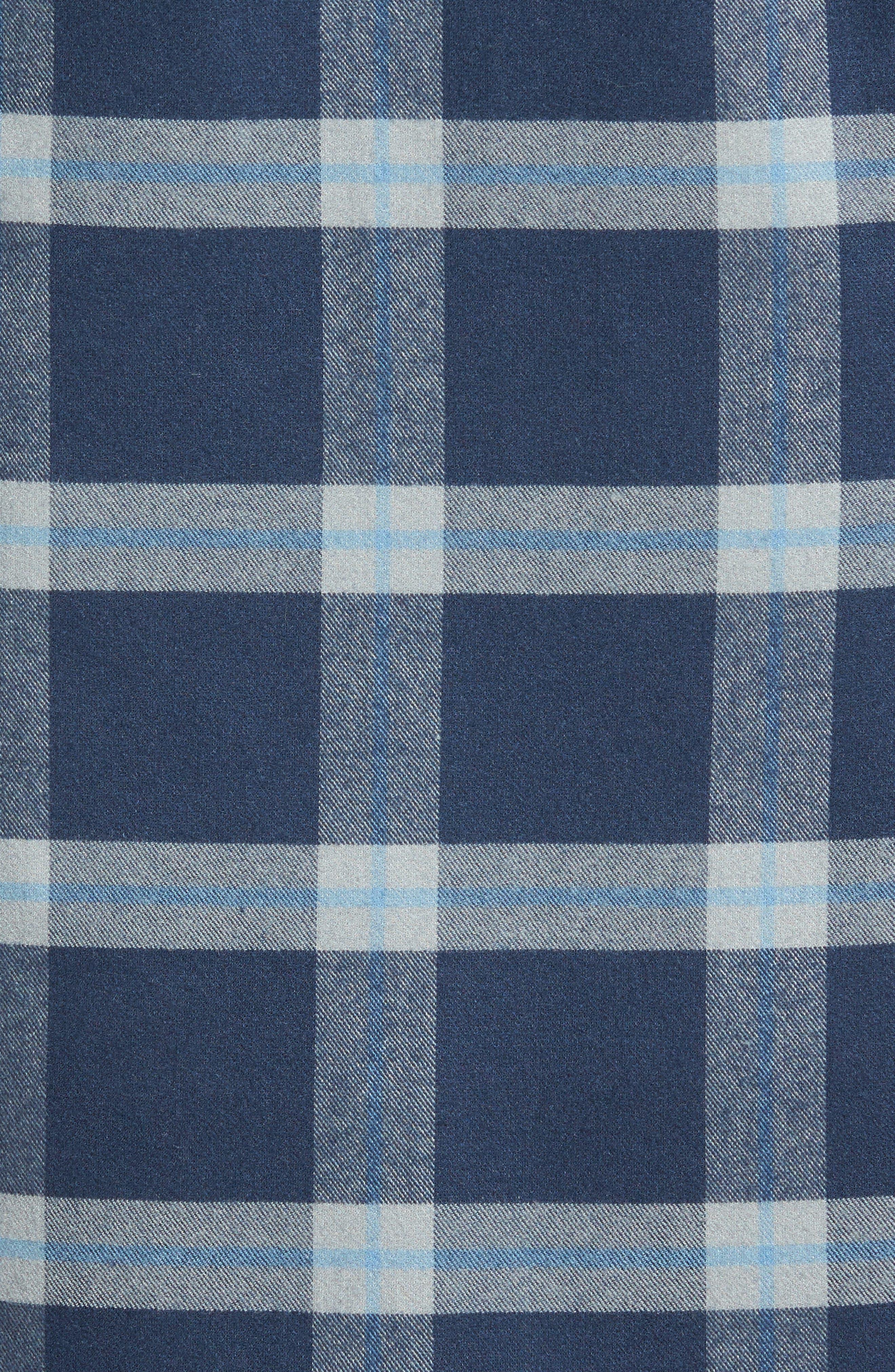 Fairview Slim Fit Plaid Flannel Sport Shirt,                             Alternate thumbnail 5, color,                             Blue