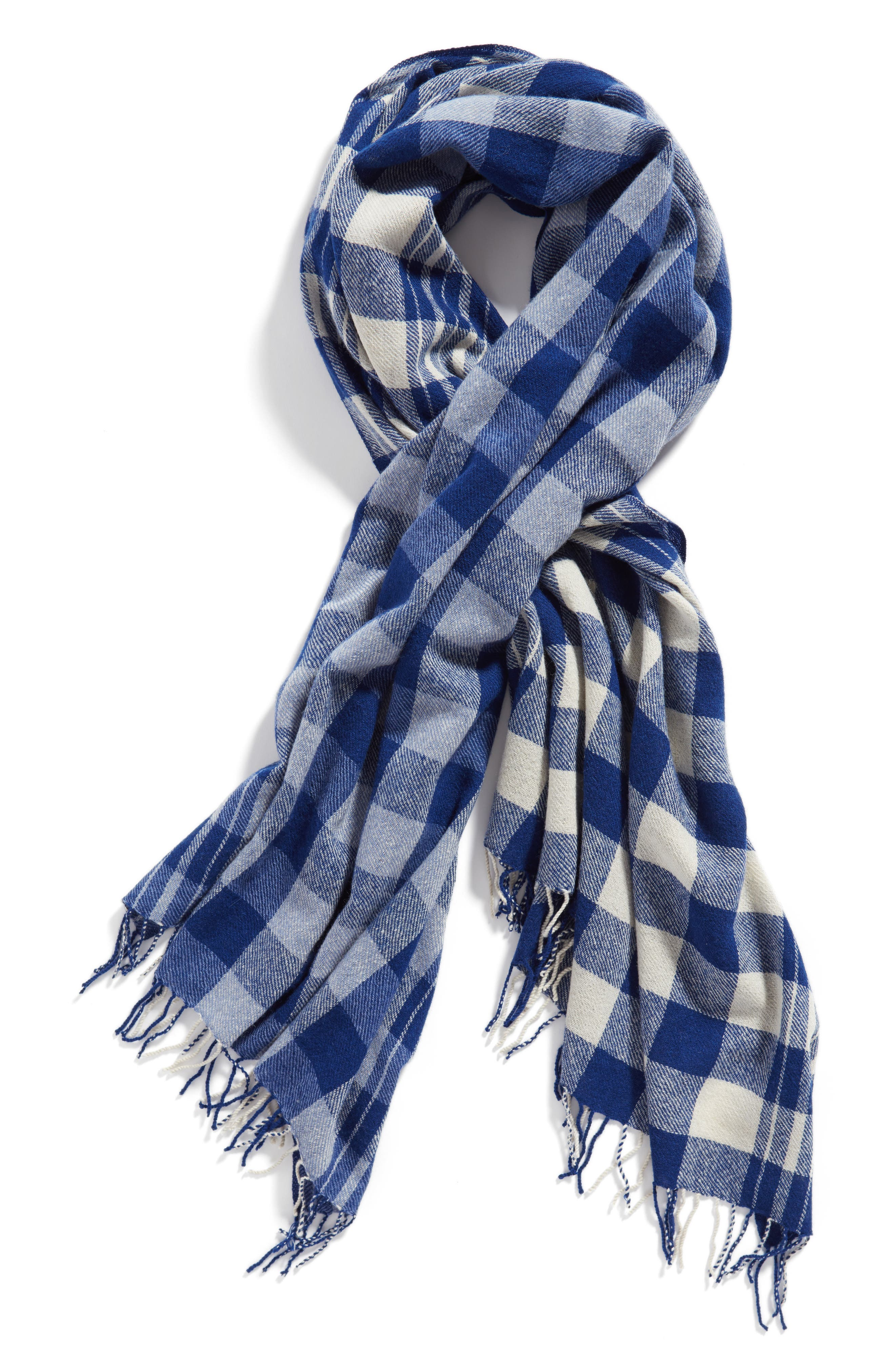 Alternate Image 3  - Standard Form Checked Wool & Cashmere Scarf
