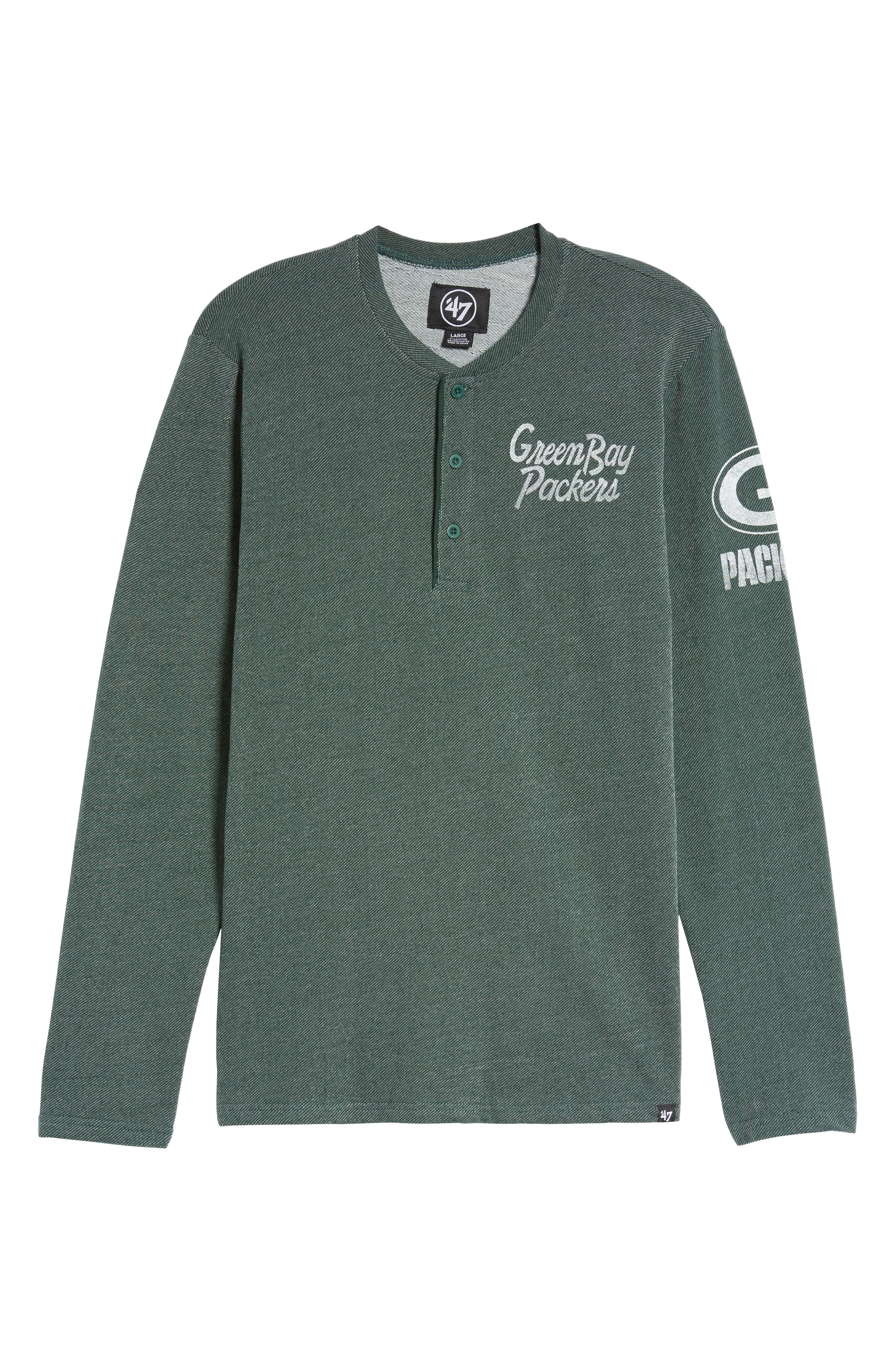 Green Bay Packers Henley,                             Alternate thumbnail 5, color,                             Dark Green