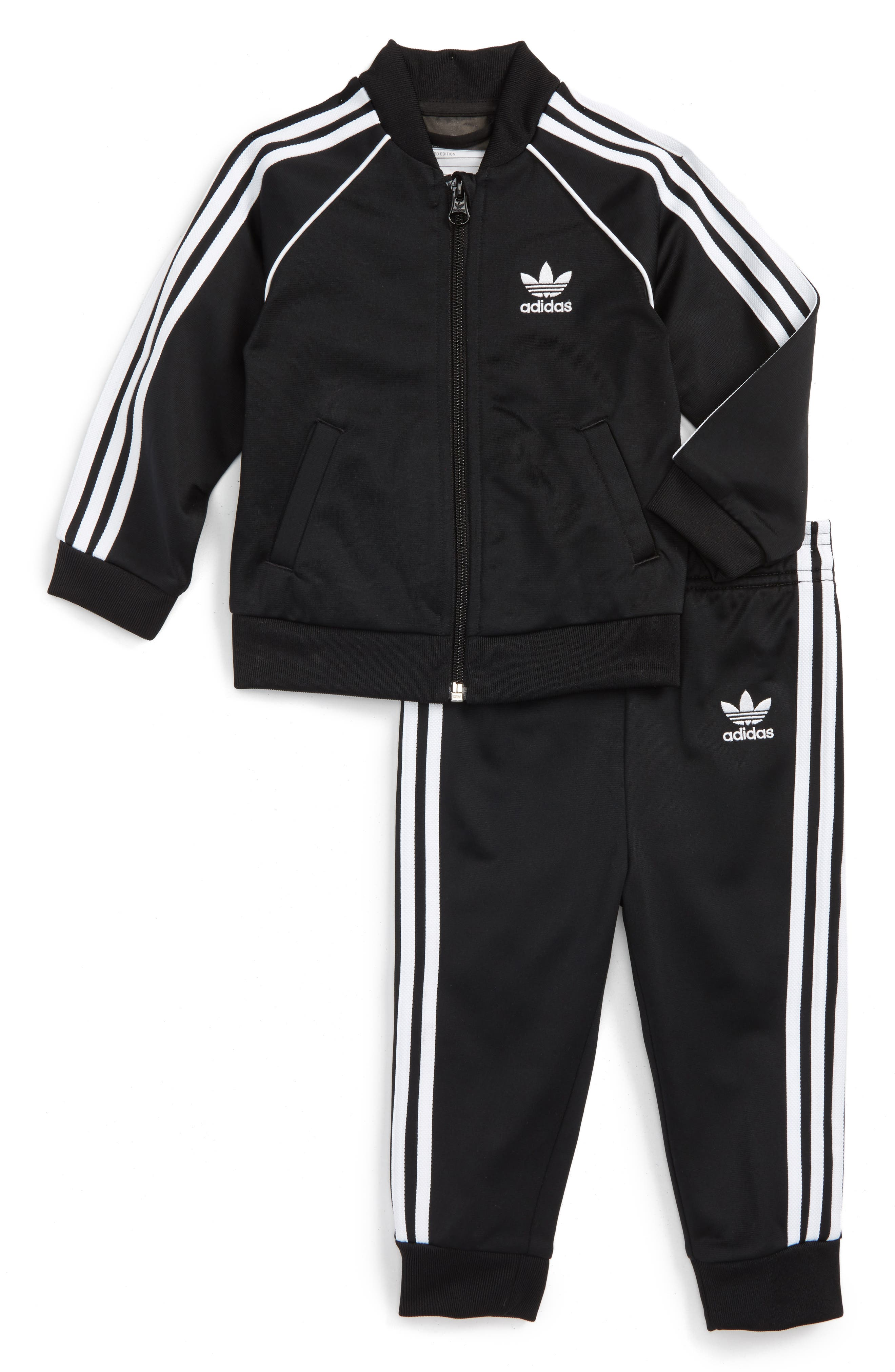 Main Image - adidas Originals Track Jacket & Athletic Pants Set (Baby)