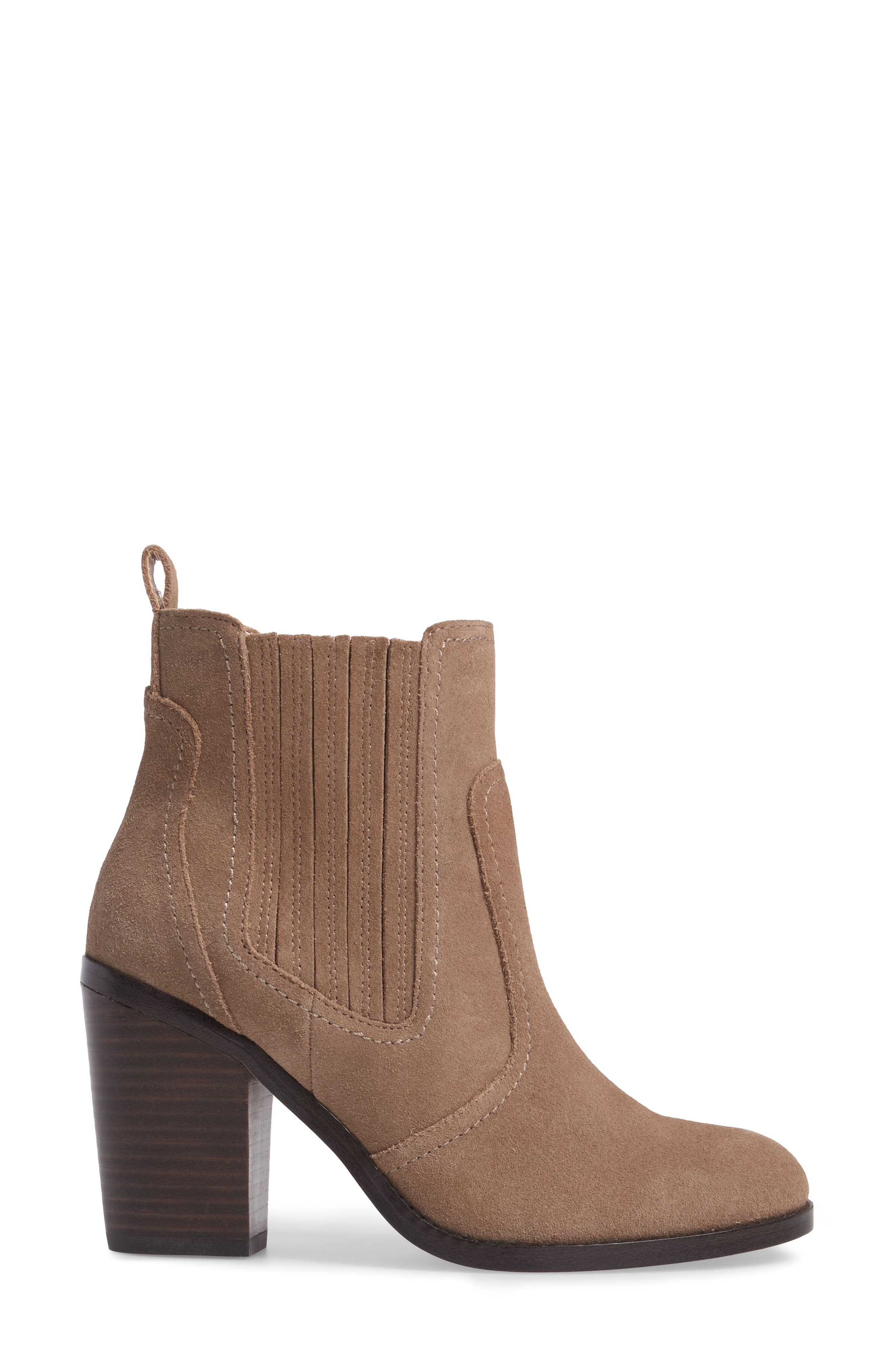 Harbor Bootie,                             Alternate thumbnail 3, color,                             Taupe