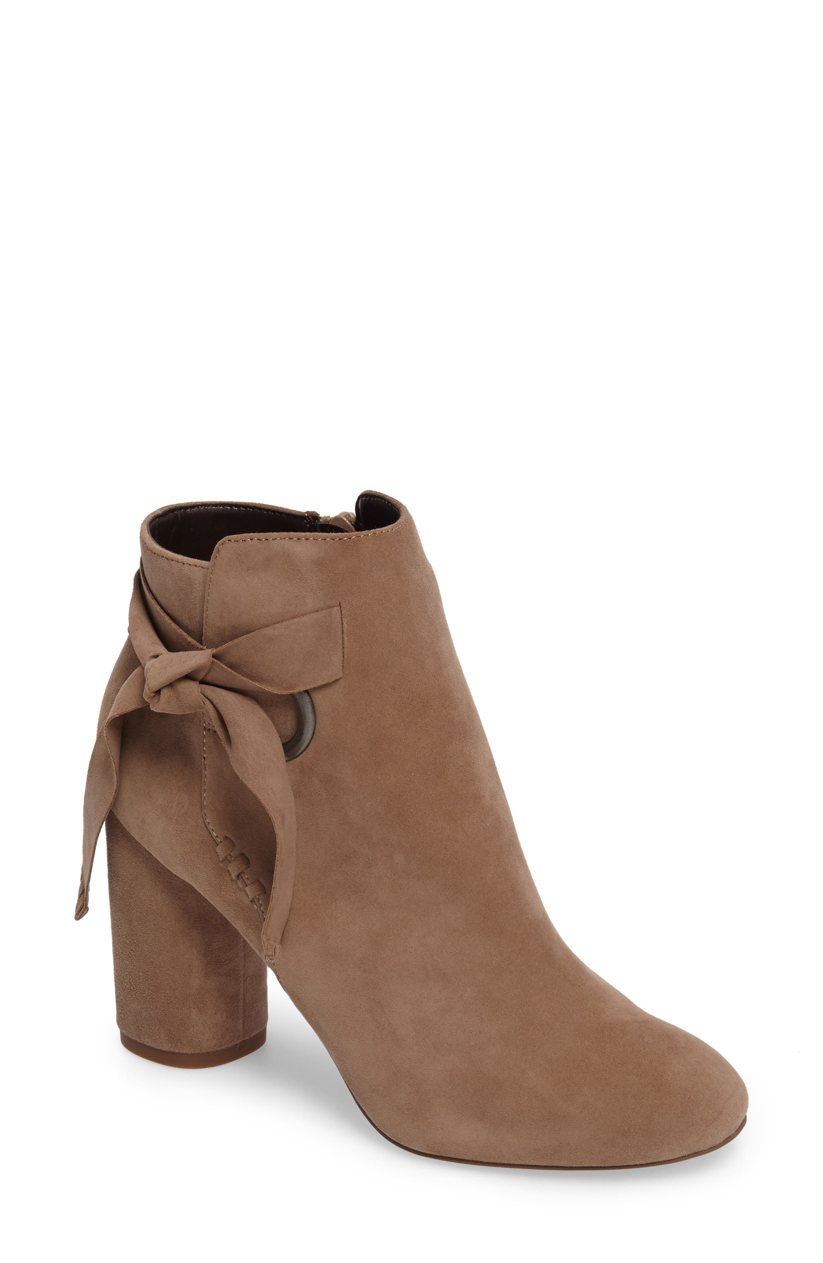 Zella Knotted Bootie,                         Main,                         color, Taupe