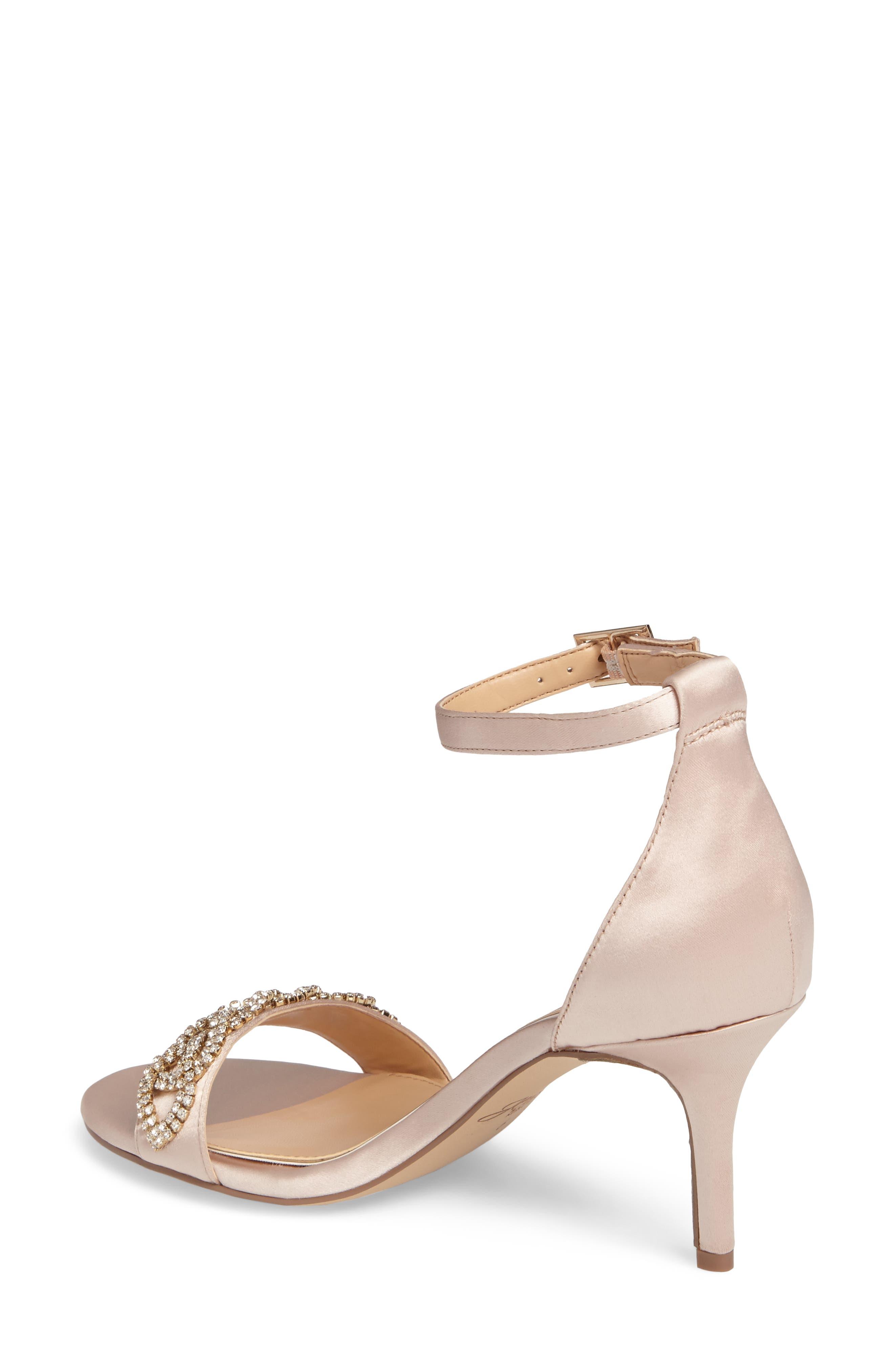 Alana Ankle Strap Sandal,                             Alternate thumbnail 2, color,                             Champagne Satin