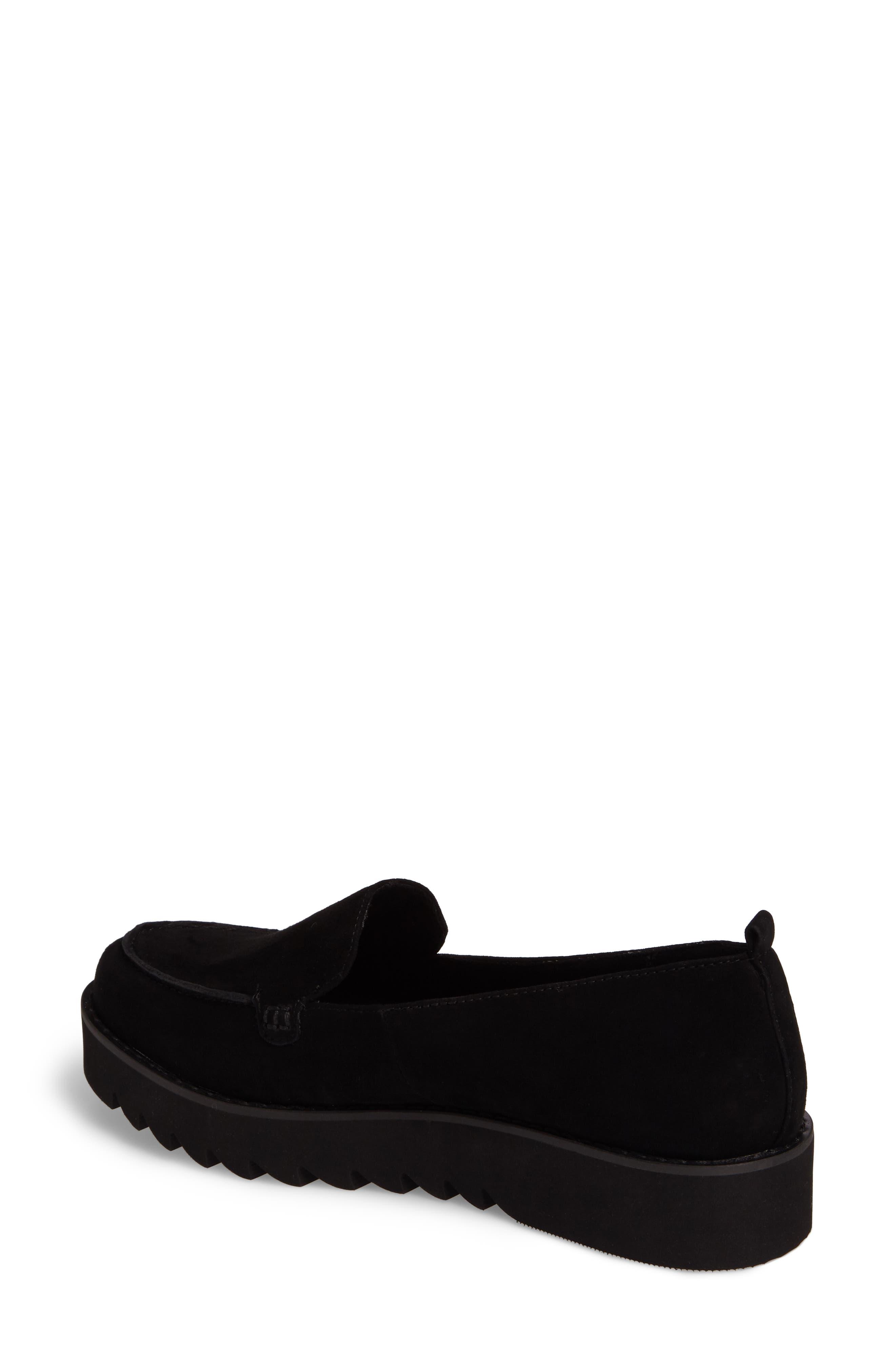 Kendall Loafer,                             Alternate thumbnail 2, color,                             Black Suede