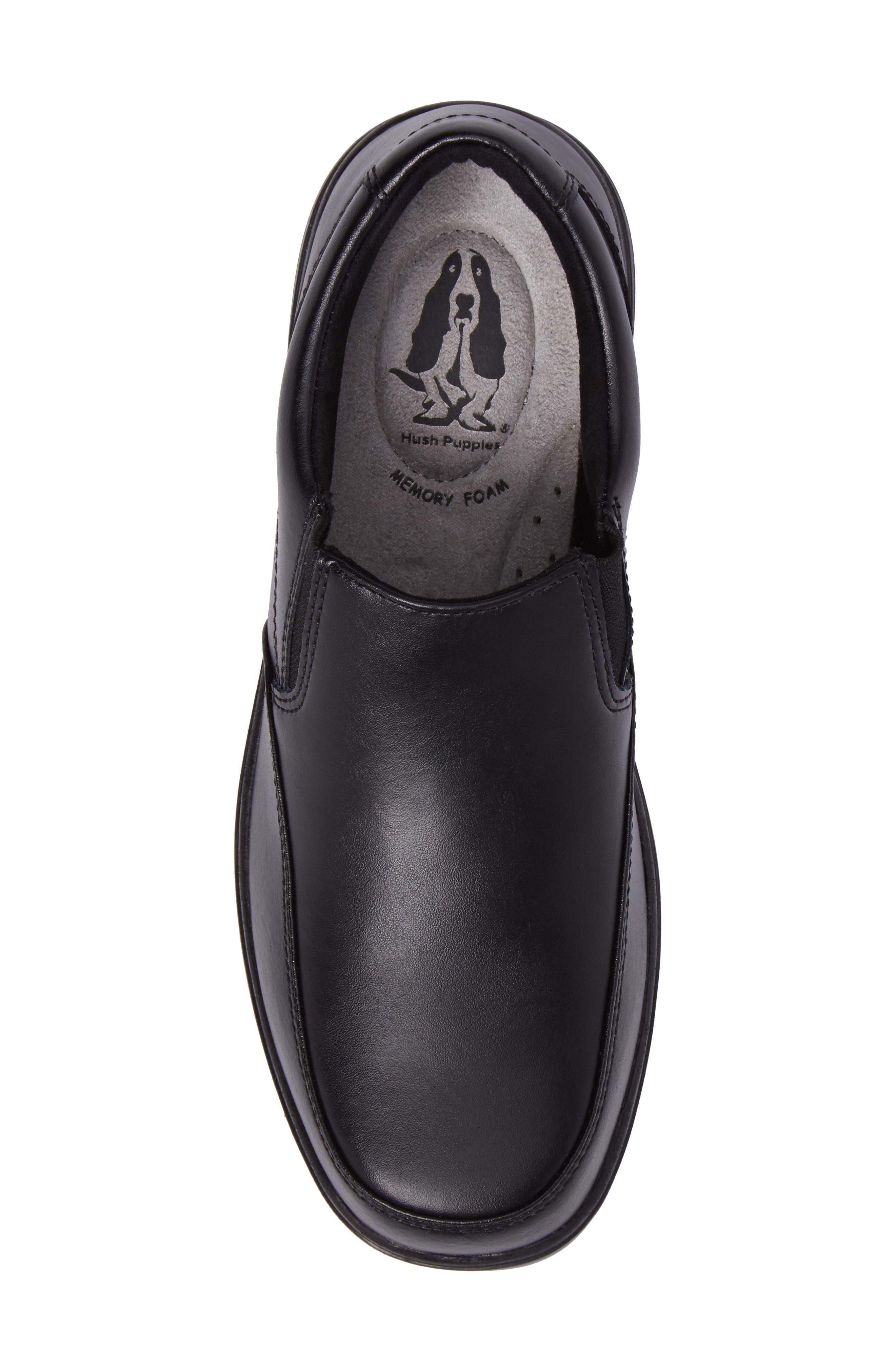 Shane Slip-On Dress Shoe,                             Alternate thumbnail 5, color,                             Black Leather