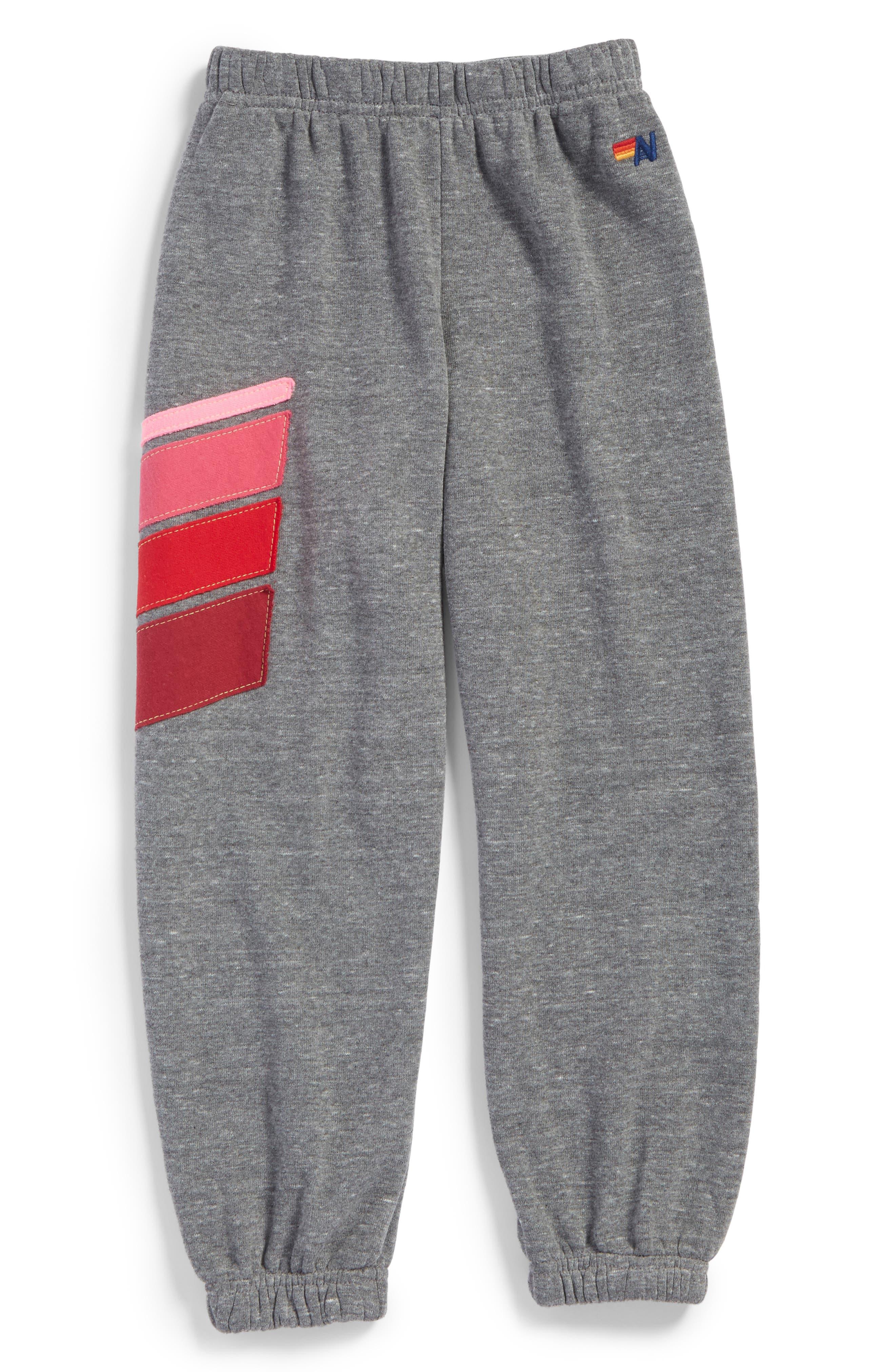 Sport Sweatpants,                             Main thumbnail 1, color,                             Heather Grey/ Pink