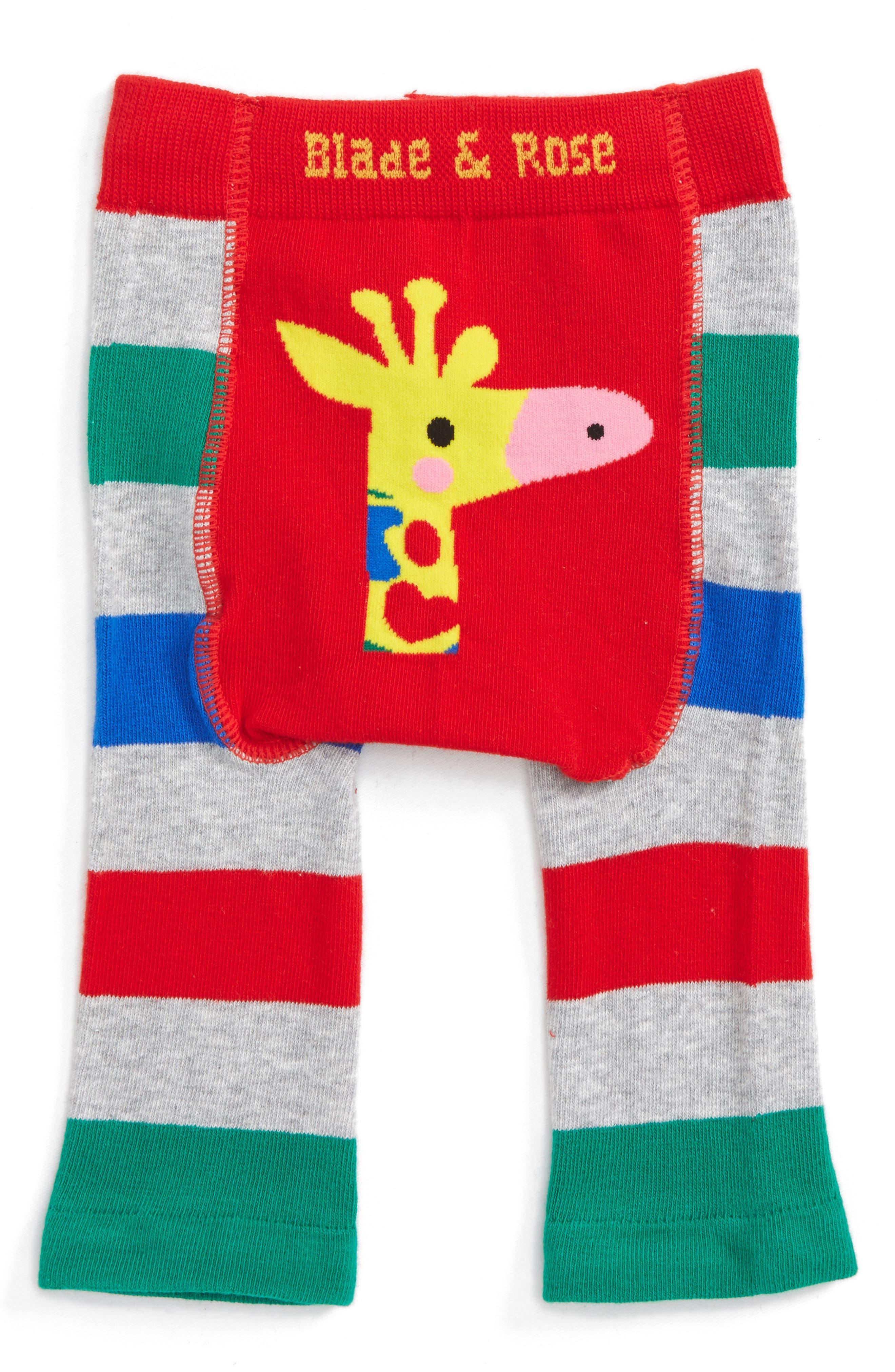 Giraffe Leggings,                         Main,                         color, Green / Grey Marl / Blue / Red