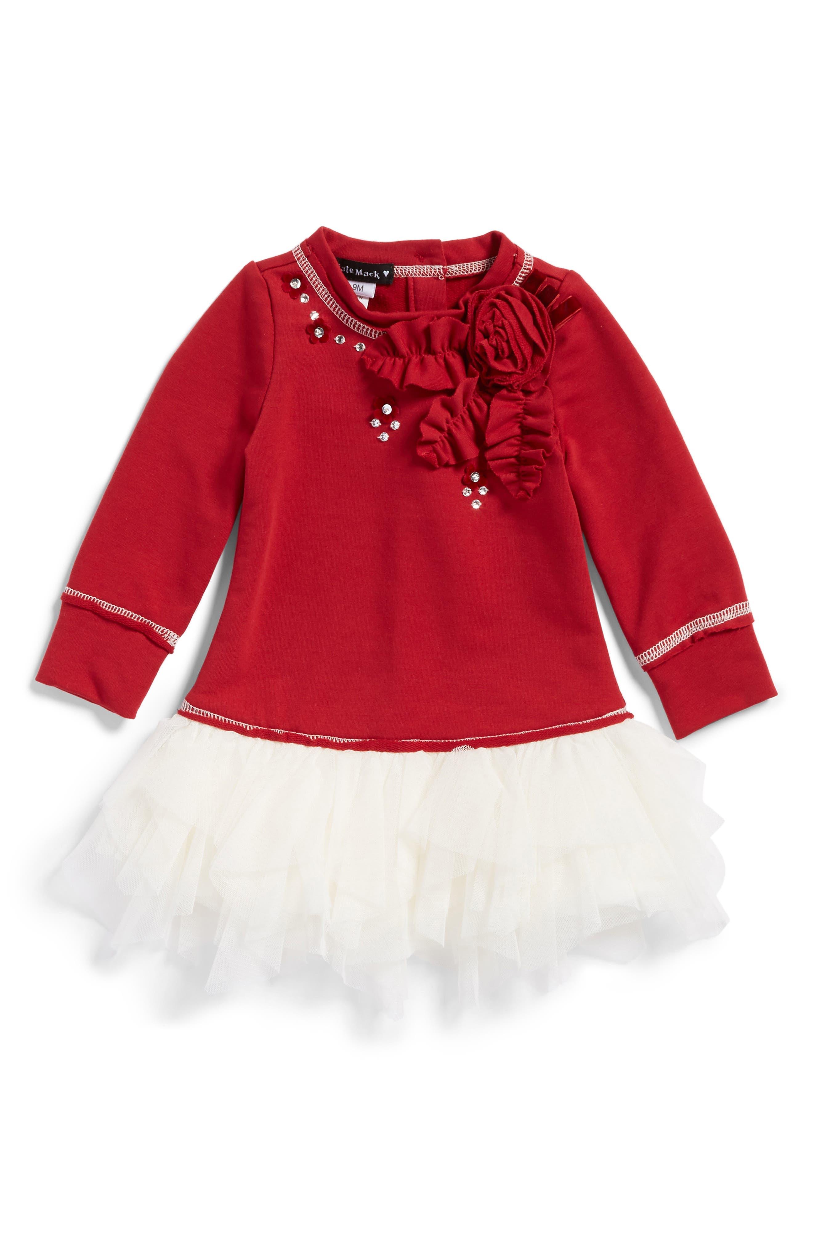 Alternate Image 1 Selected - Kate Mack Knit Bodice Tutu Dress (Baby Girls)