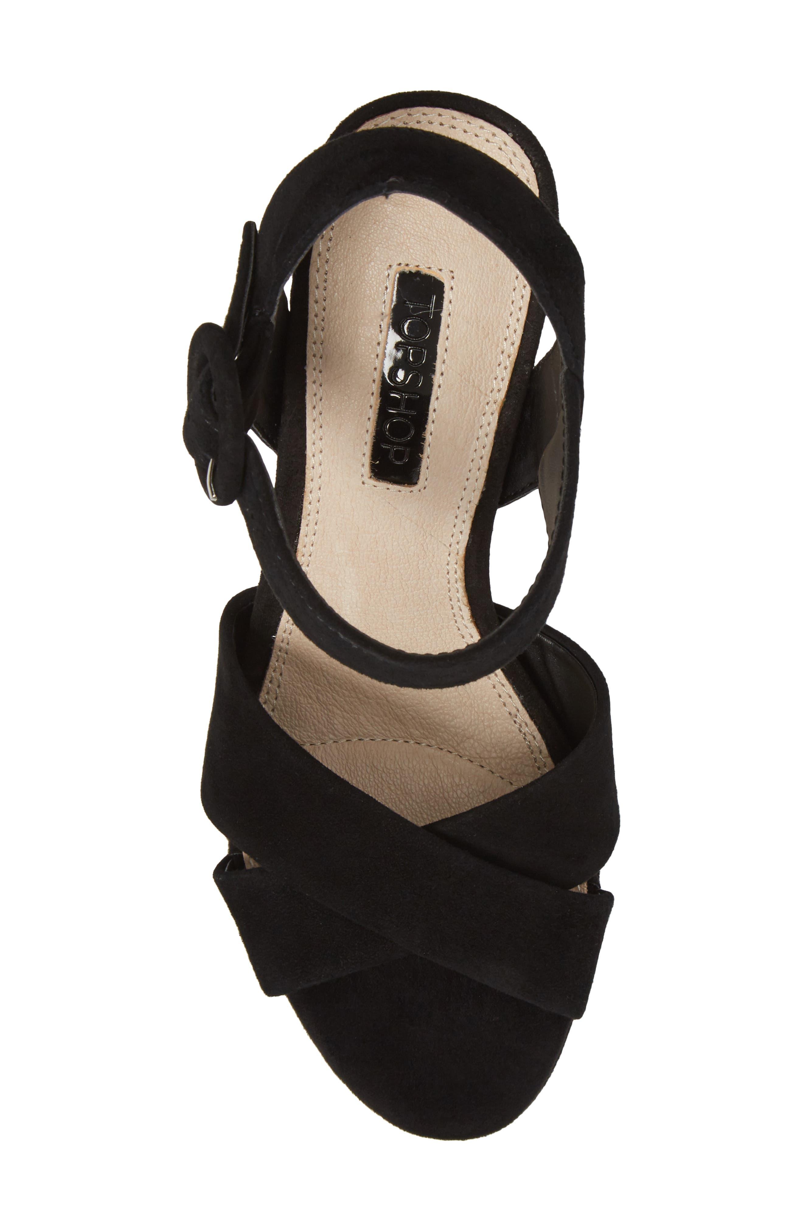 Alternate Image 5  - Topshop Cross Strap Platform Sandal (Women)