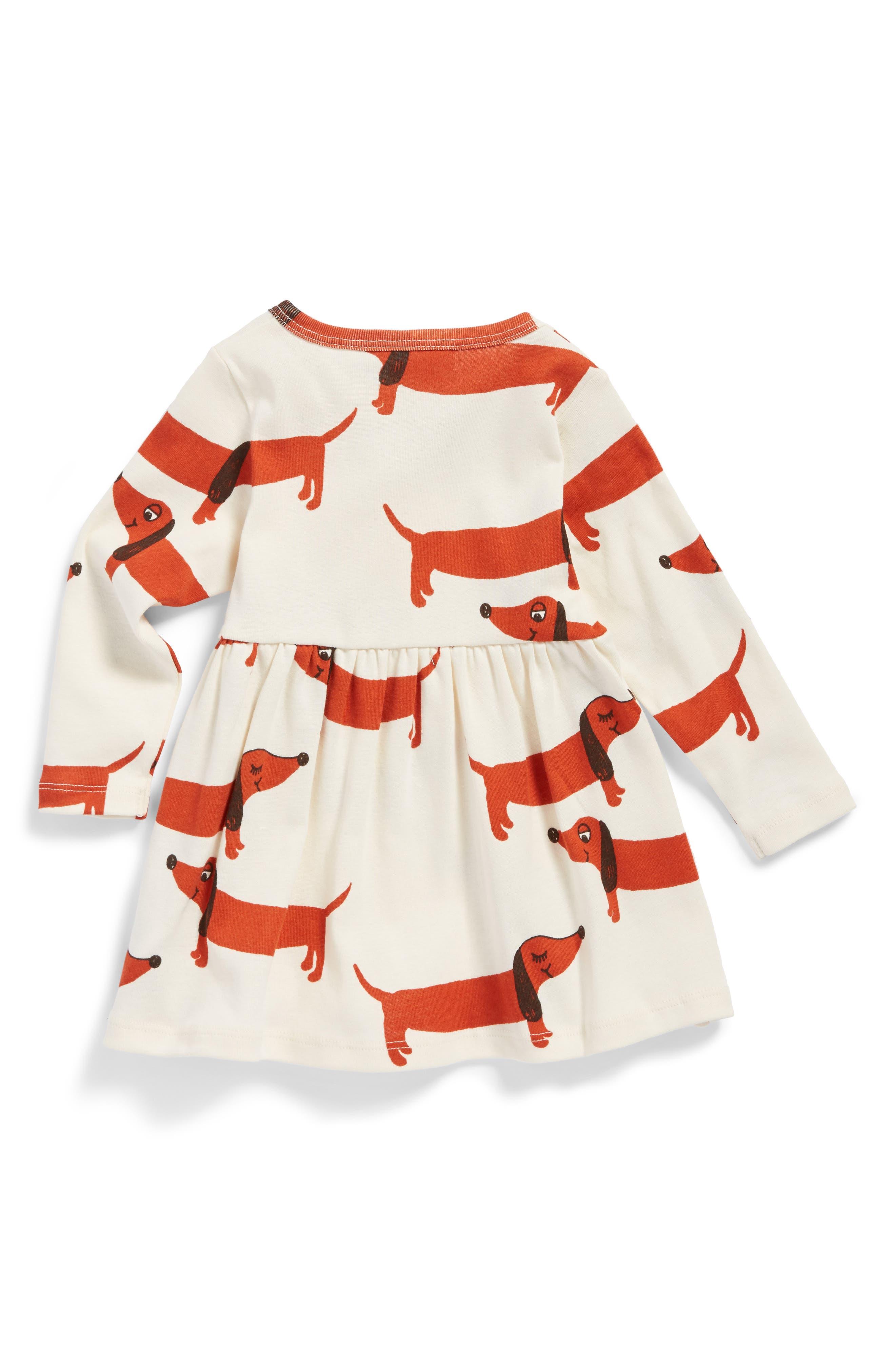 Dogs Organic Cotton Dress,                             Alternate thumbnail 2, color,                             Off White
