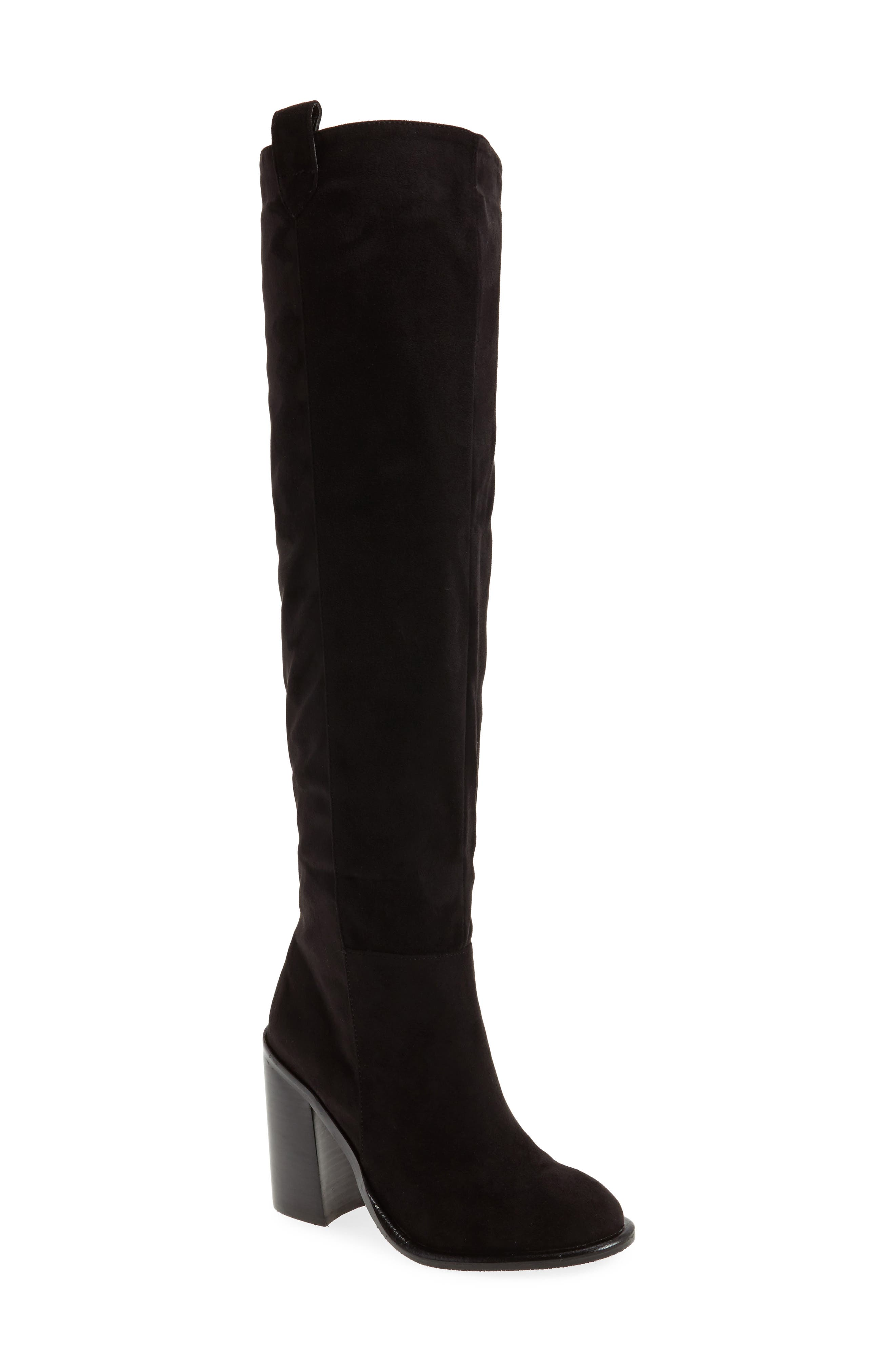 Nate Over the Knee Boot,                         Main,                         color, Black