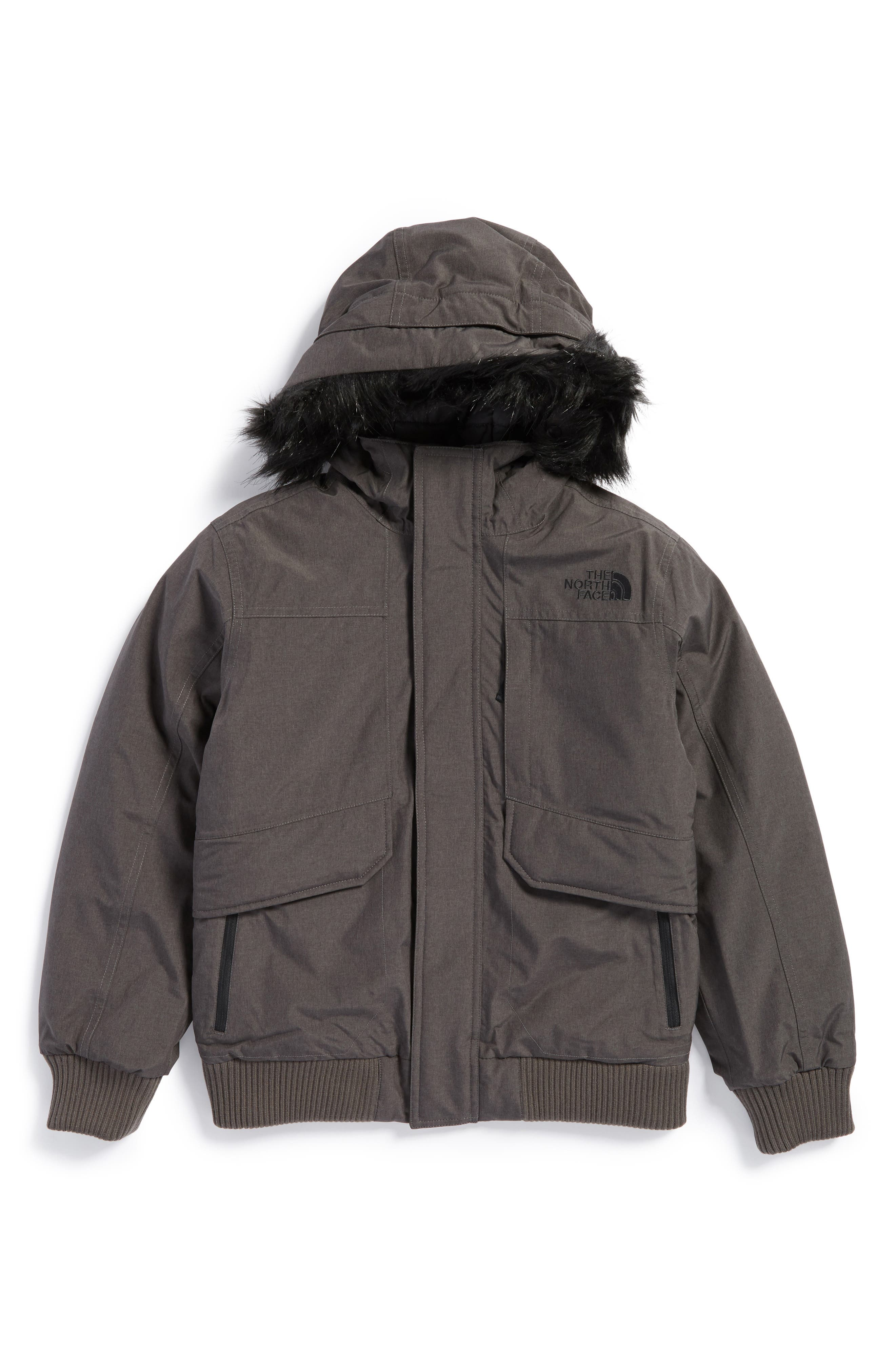 Main Image - The North Face Gotham Hooded Waterproof 550-Fill Power Down Jacket (Big Boys)