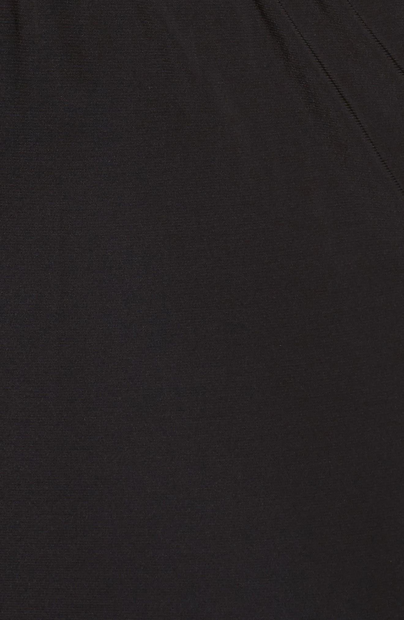 Embellished Cowl Back Jumpsuit,                             Alternate thumbnail 5, color,                             Black