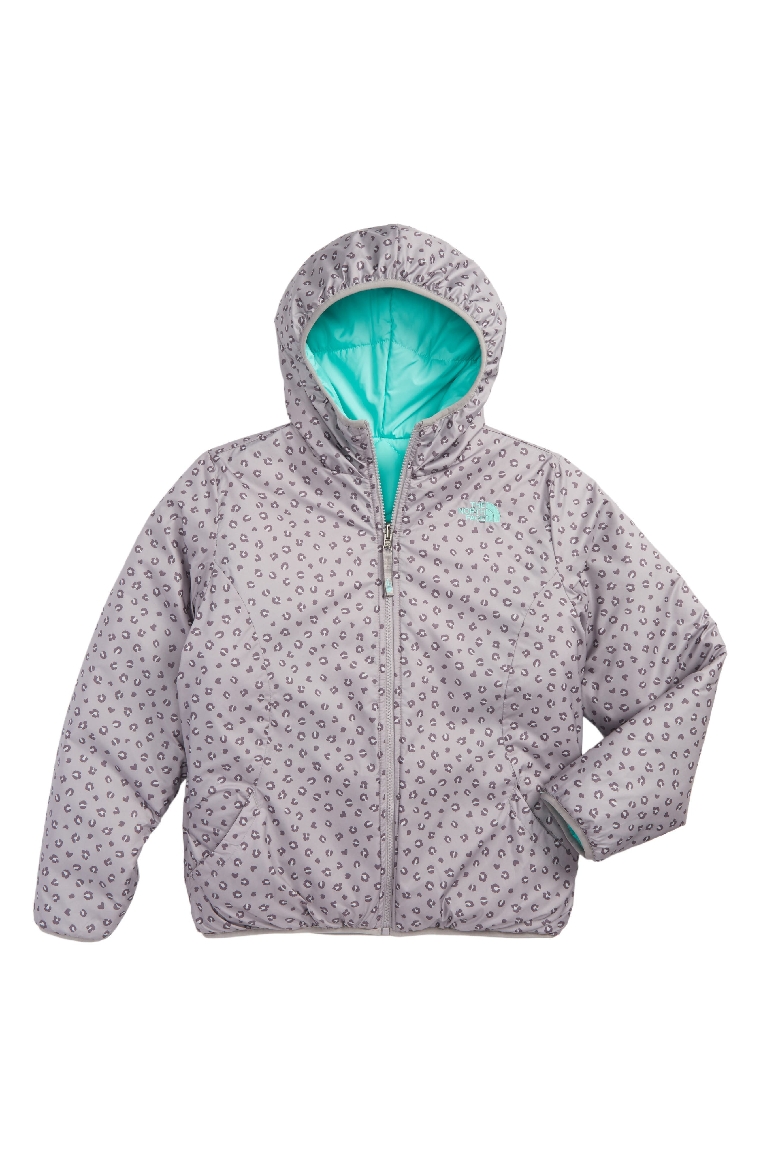 Alternate Image 2  - The North Face Perrito Reversible Hooded Jacket (Little Girls & Big GIrls)