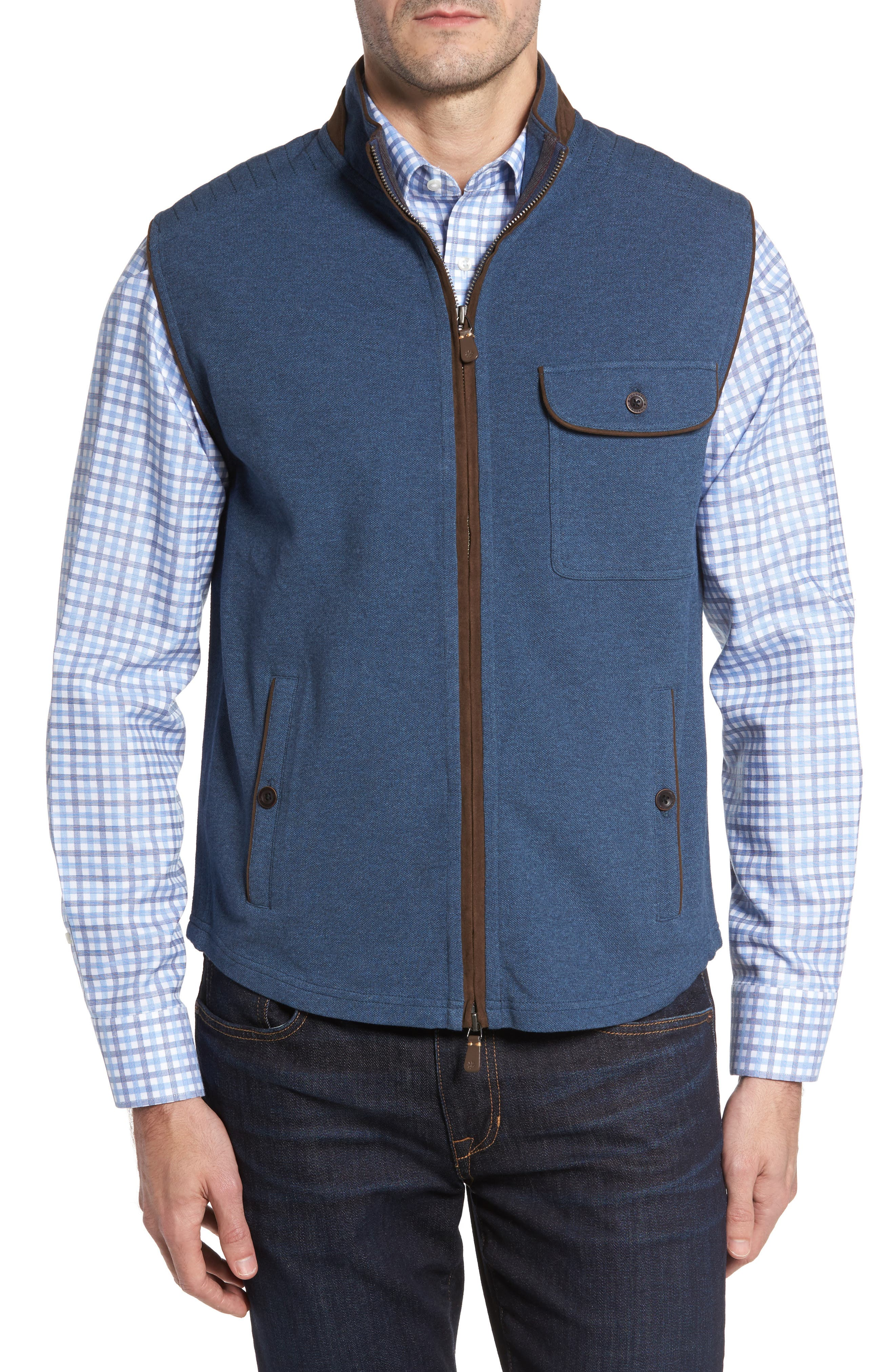 Main Image - Thaddeus Robert Full Zip Vest